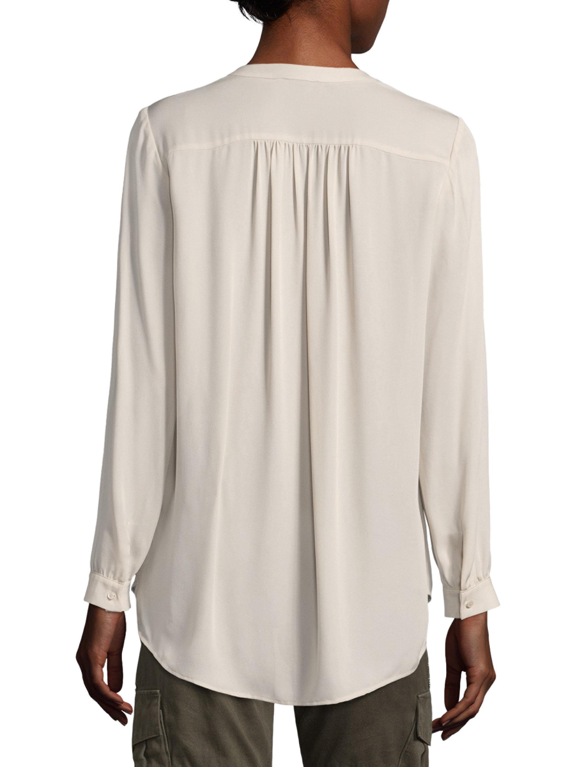 a394c634e8190b Lyst - Joie Yaritza Long Sleeve Silk Blouse in White