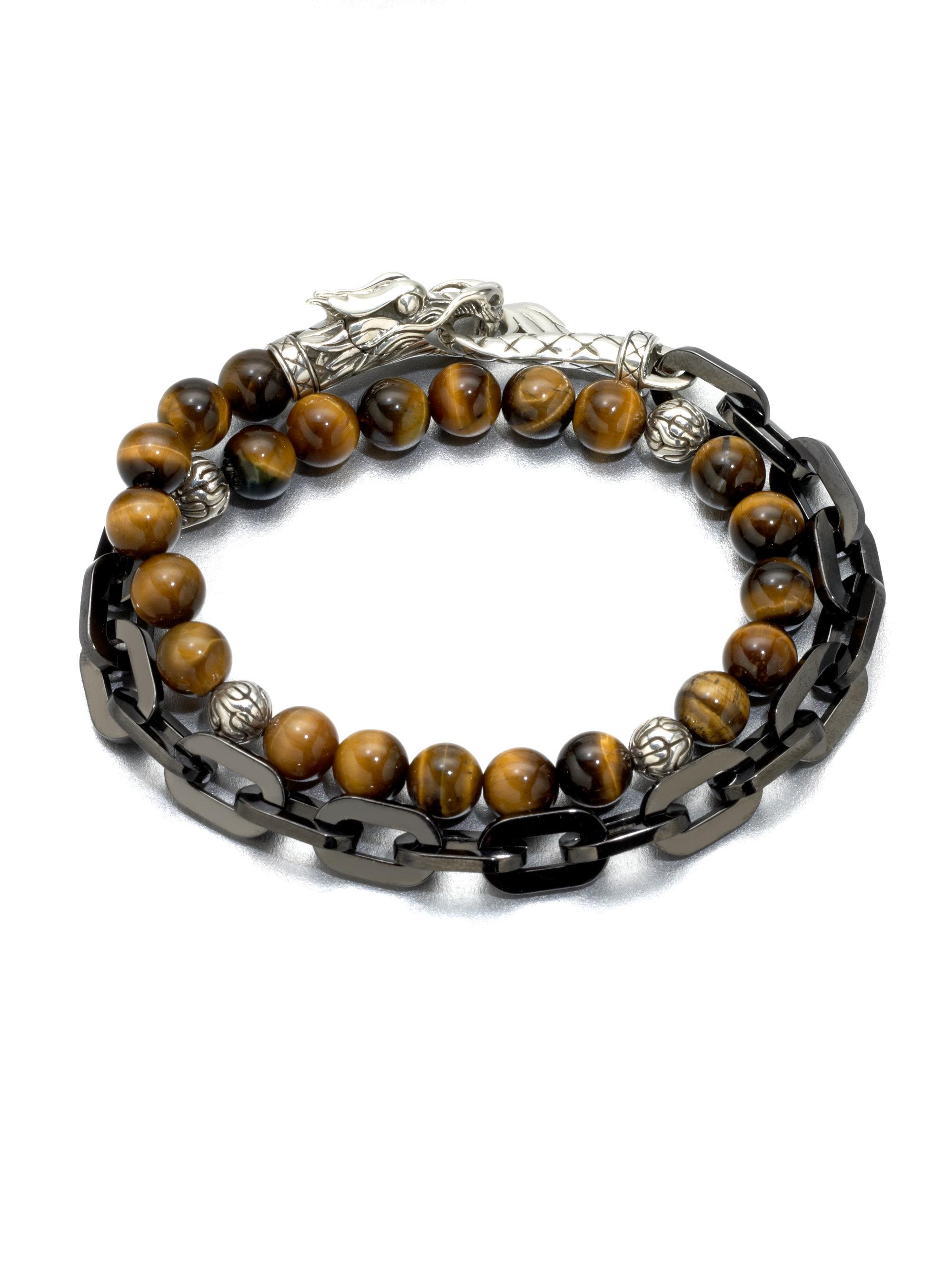 john hardy naga silver beaded bracelet lyst