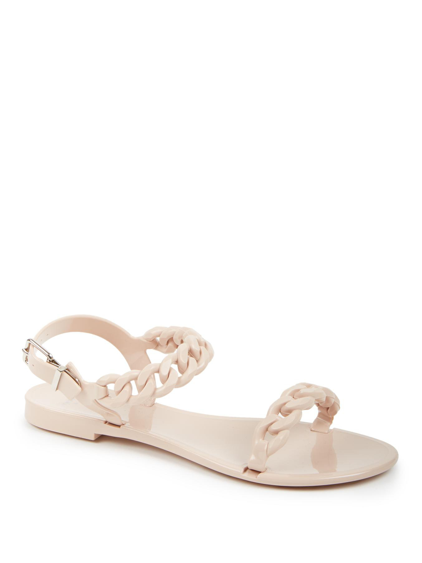 f93af981b094 Lyst - Givenchy Nea Jelly Flat Sandals in Natural