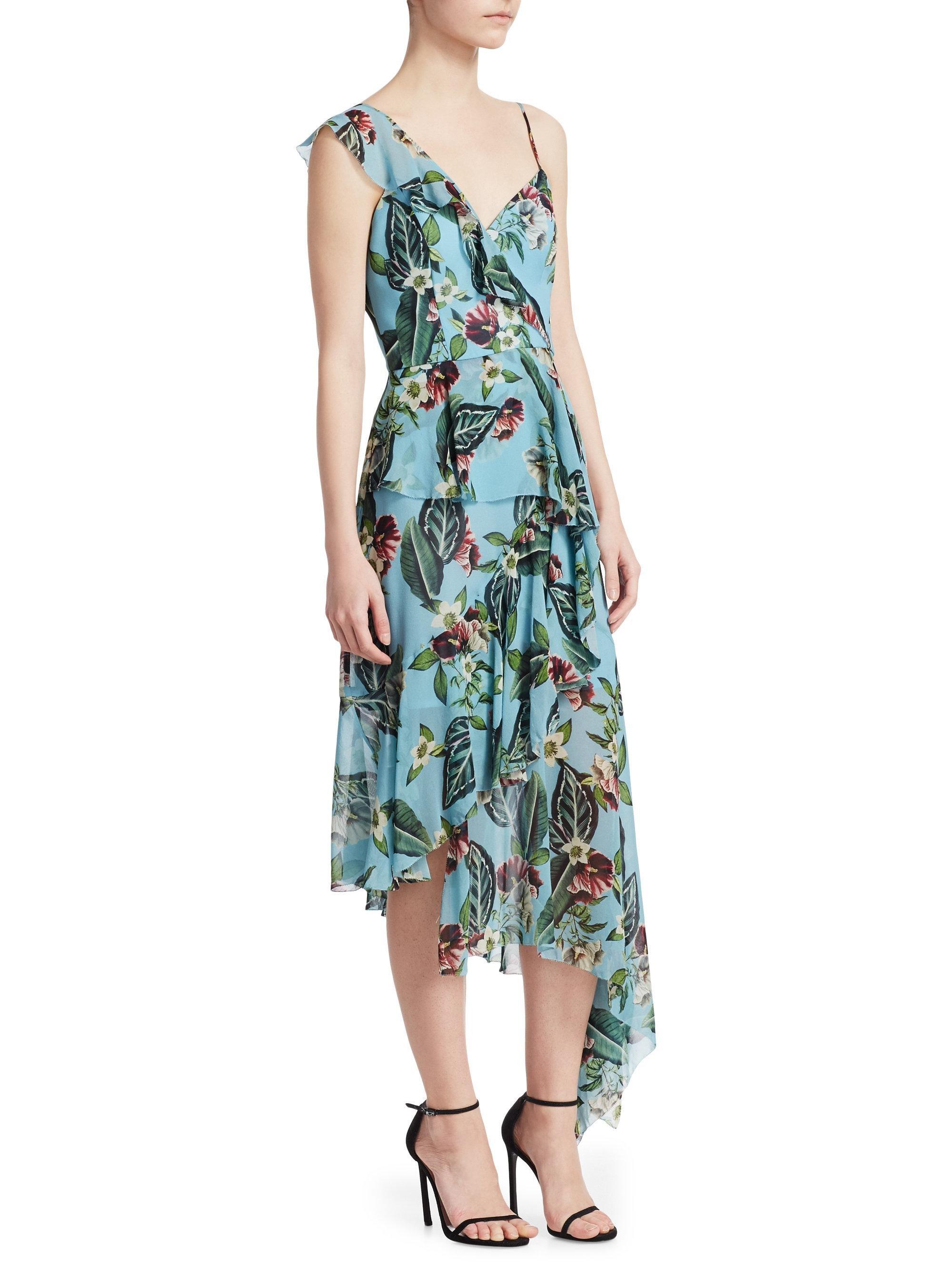Carolina Herrera One Shoulder Floral Gown Black One shoulder neckline ytr 77326