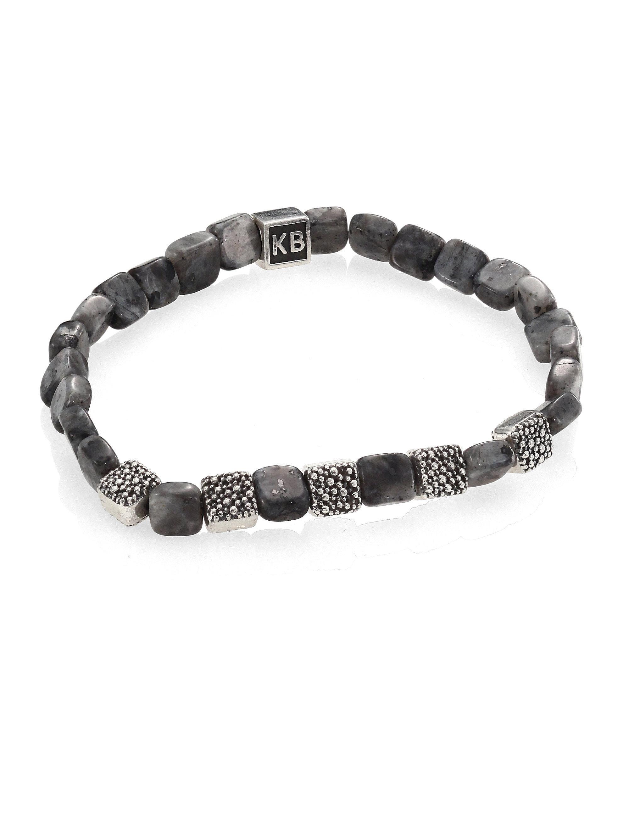 King Baby Studio Women S Metallic Labradorite Sterling Silver Bracelet