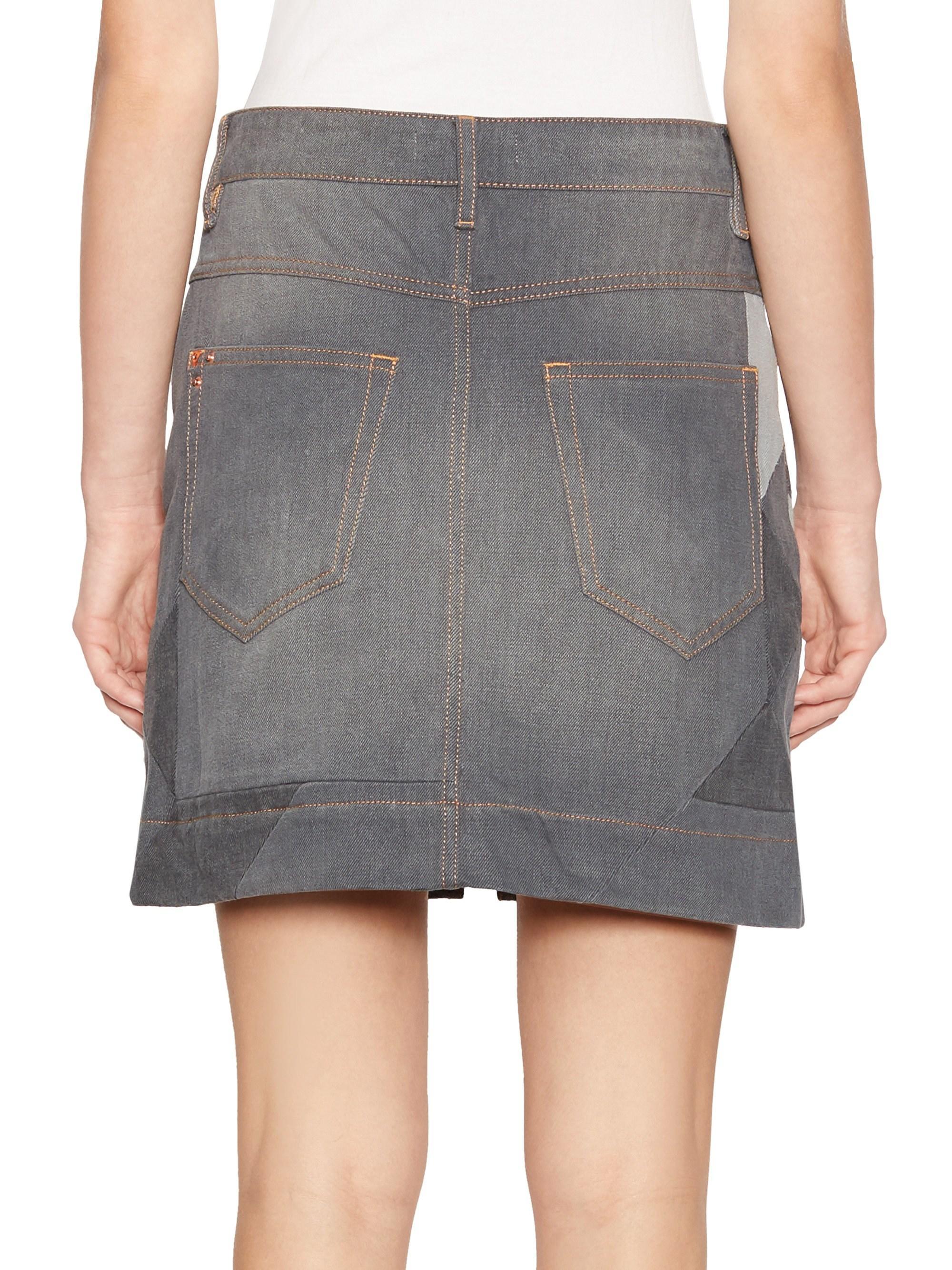 50f01fa767 Étoile Isabel Marant Lioline Graphic Zip A-line Denim Skirt in Black ...