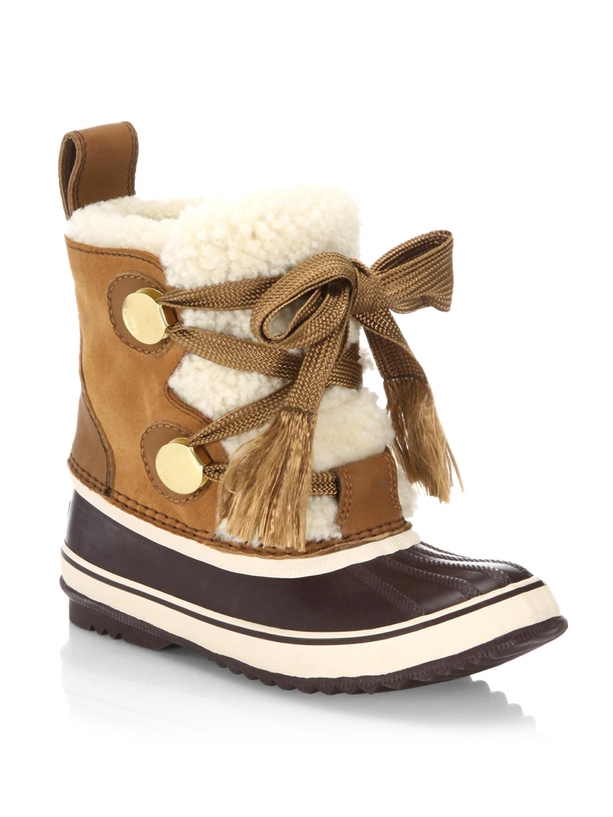 Chloé Sorel X Shearling Weather Boots