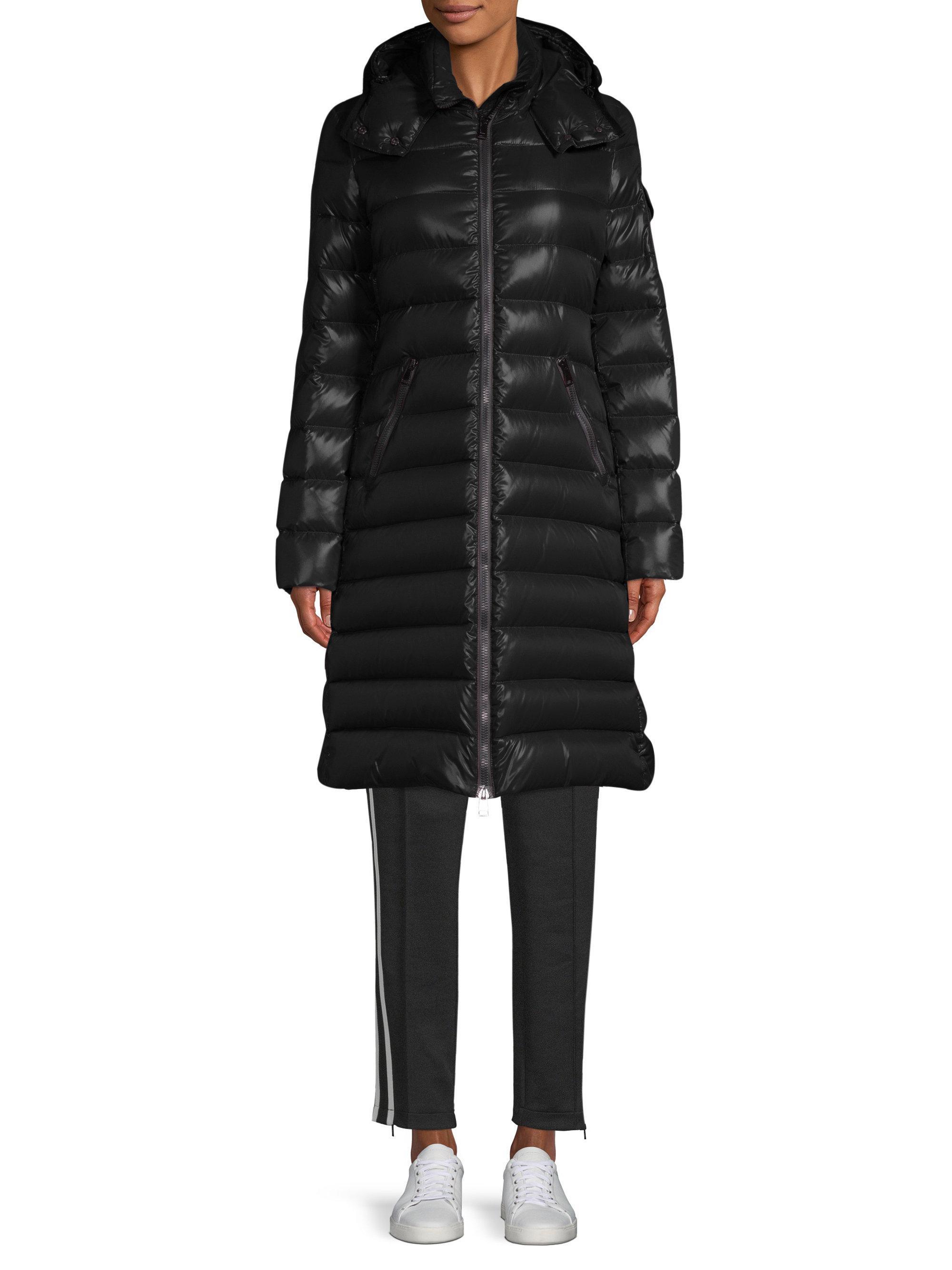 54900d210 Moncler Black Moka Lacquer Hooded Jacket