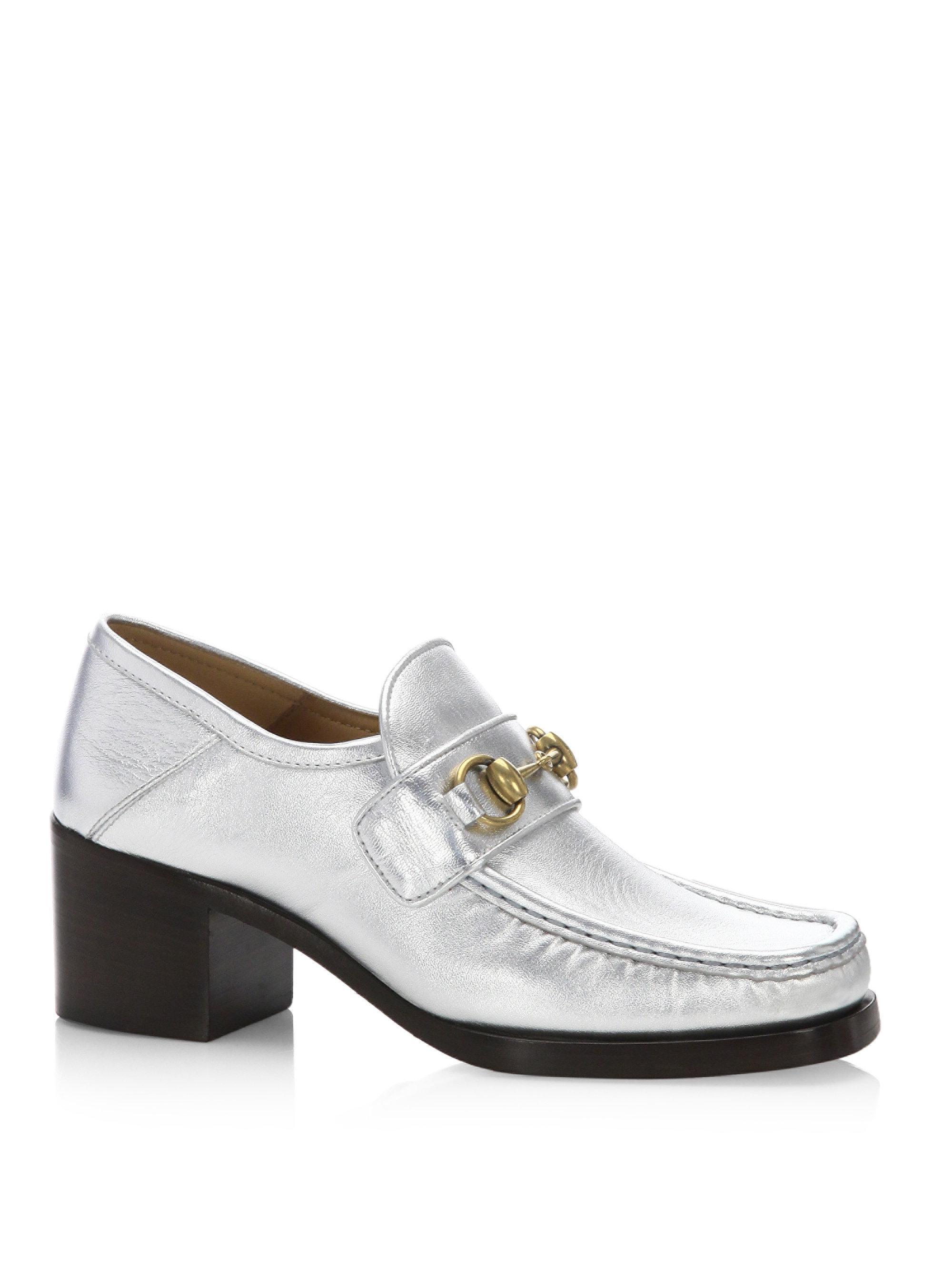 GmwIxLzZxu Vegas Metallic Leather Loafer Loafers