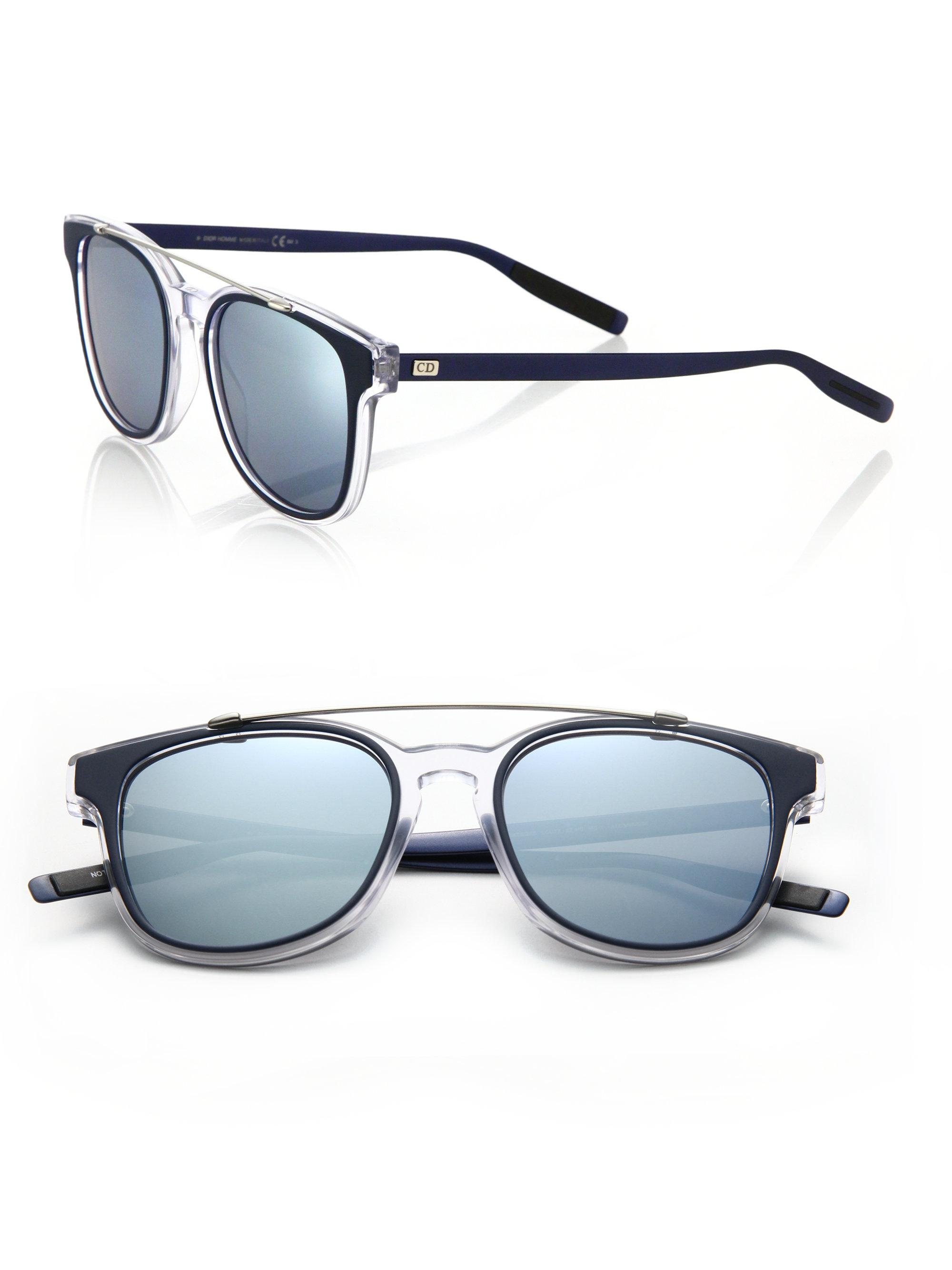 86c86252d6 Dior Homme Black Tie 211s 52mm Mirror Sunglasses in Blue for Men - Lyst