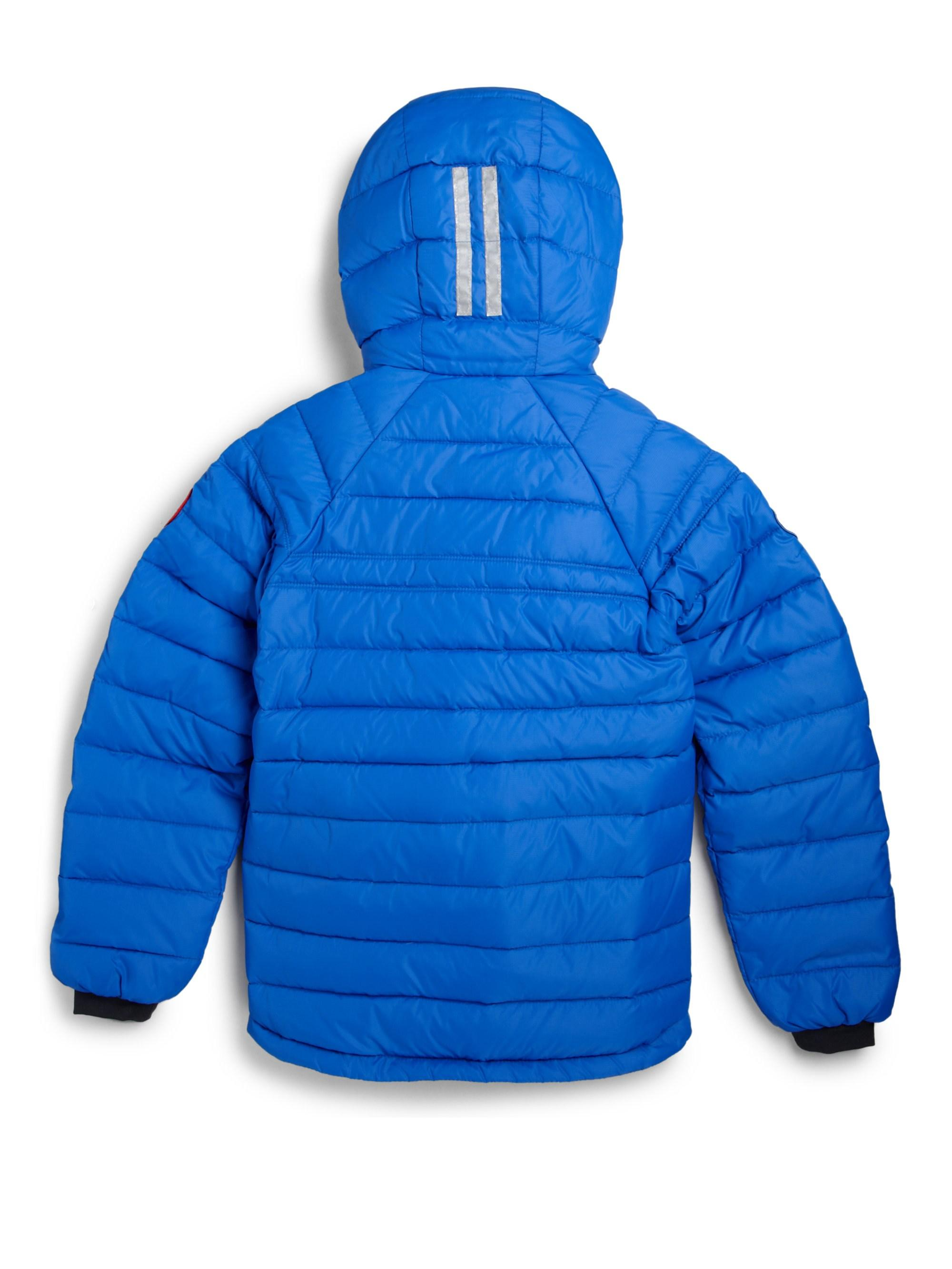 9a932b388 Lyst - Canada Goose Boy s Sherwood Down Hoodie Jacket in Blue for Men