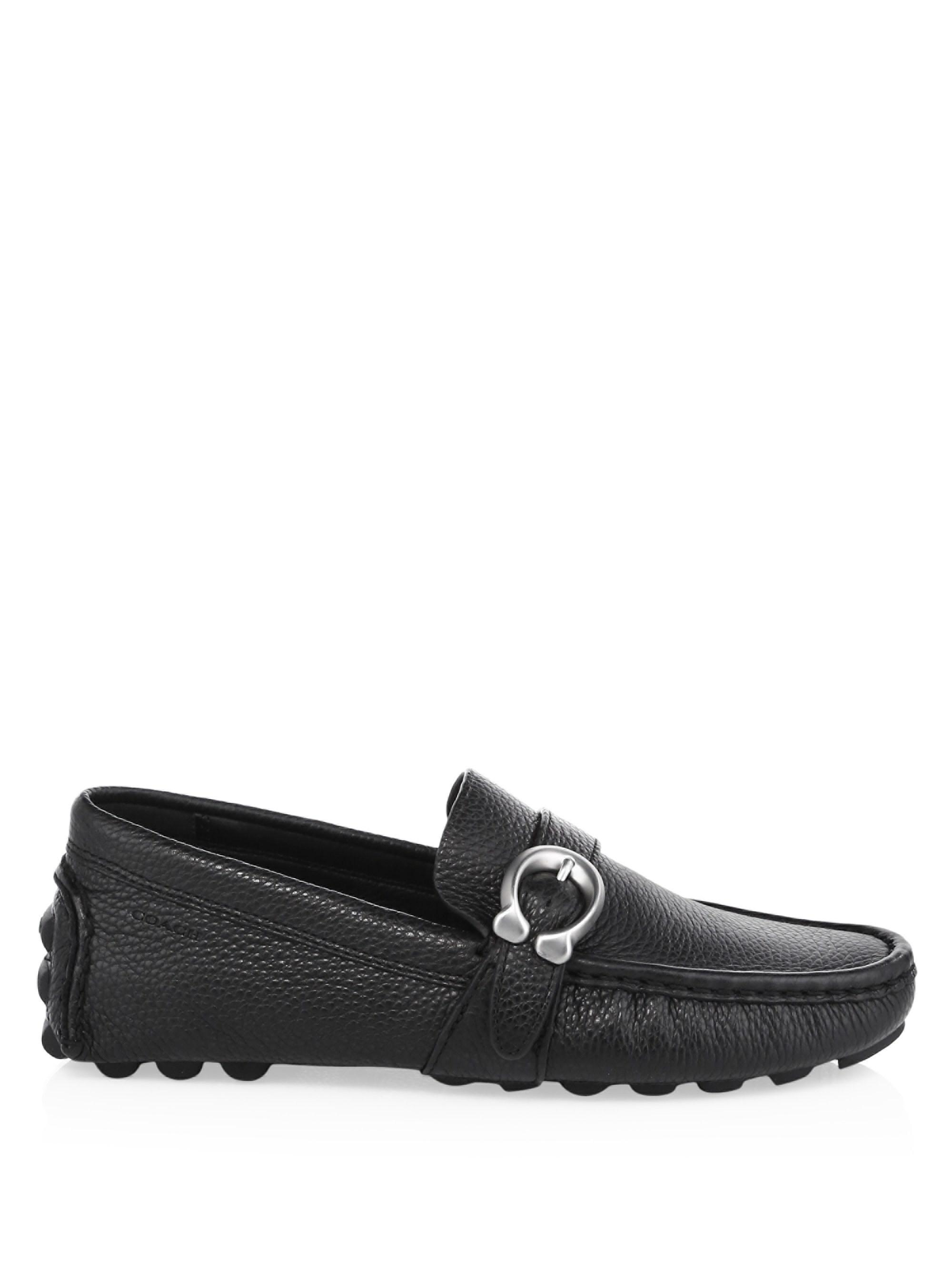 Coach Leather C Strap Driver Loafers IJjPTb1