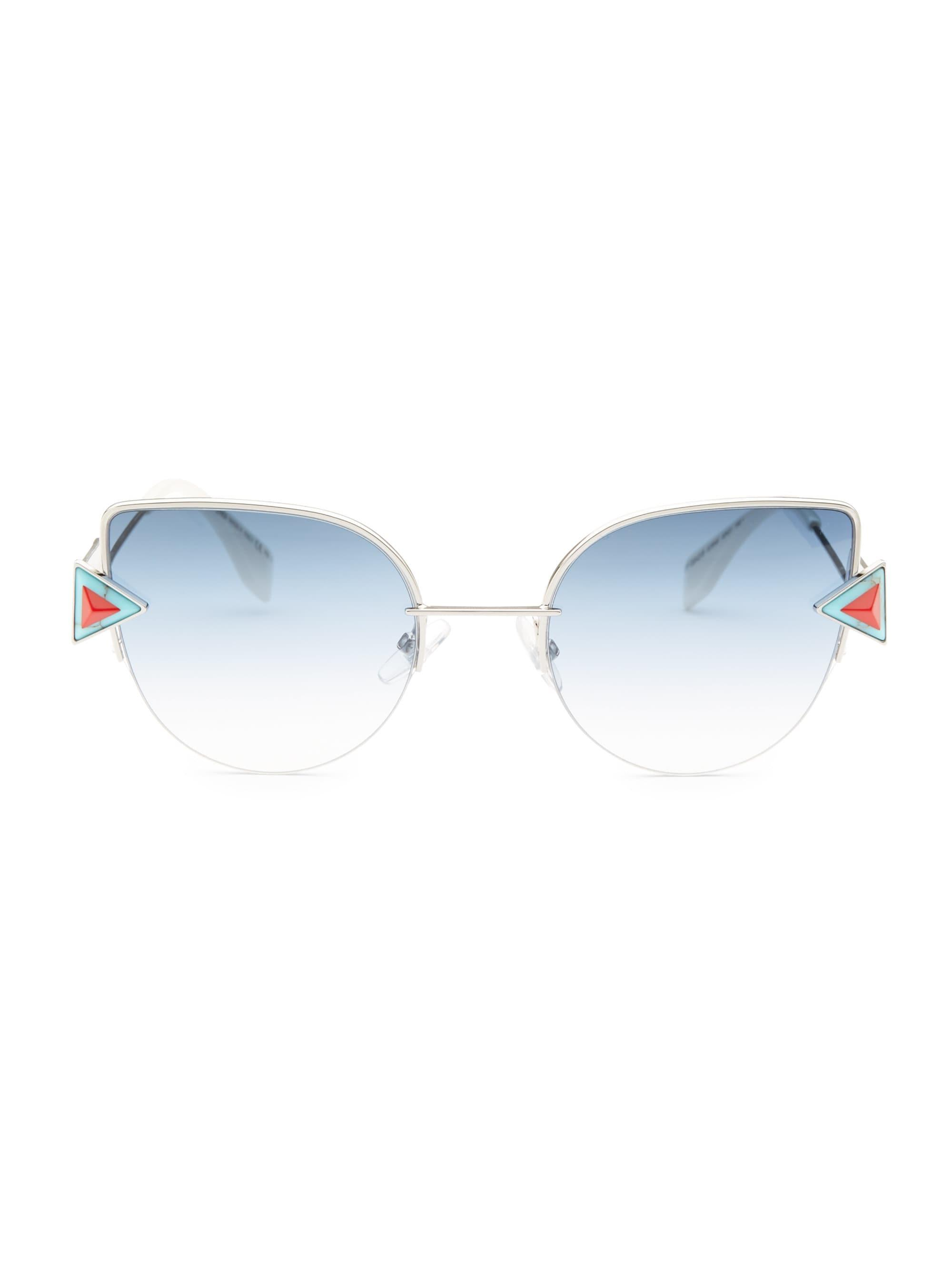 a05a1c5a47e35 Fendi Rainbow 52mm Cat Eye Sunglasses in Blue - Lyst