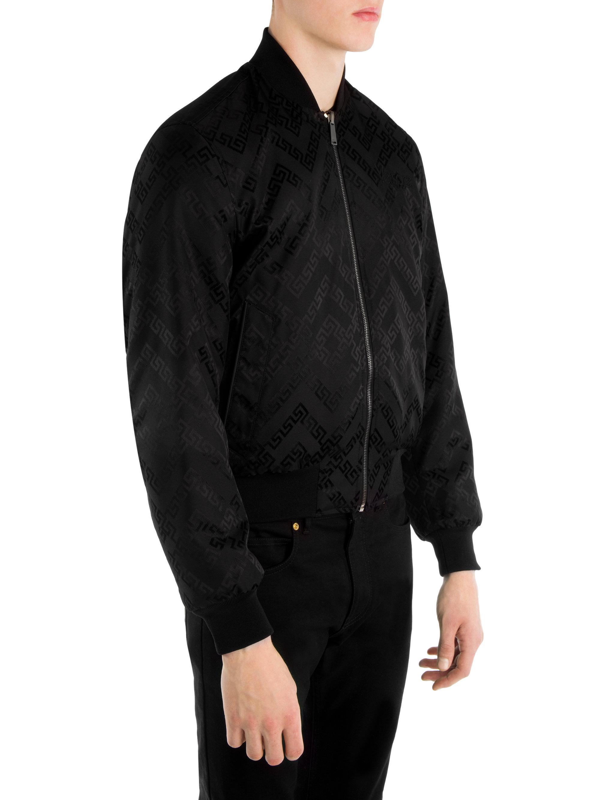 dee5475b0 Versace Reversible Baroque Bomber Jacket in Black for Men - Lyst