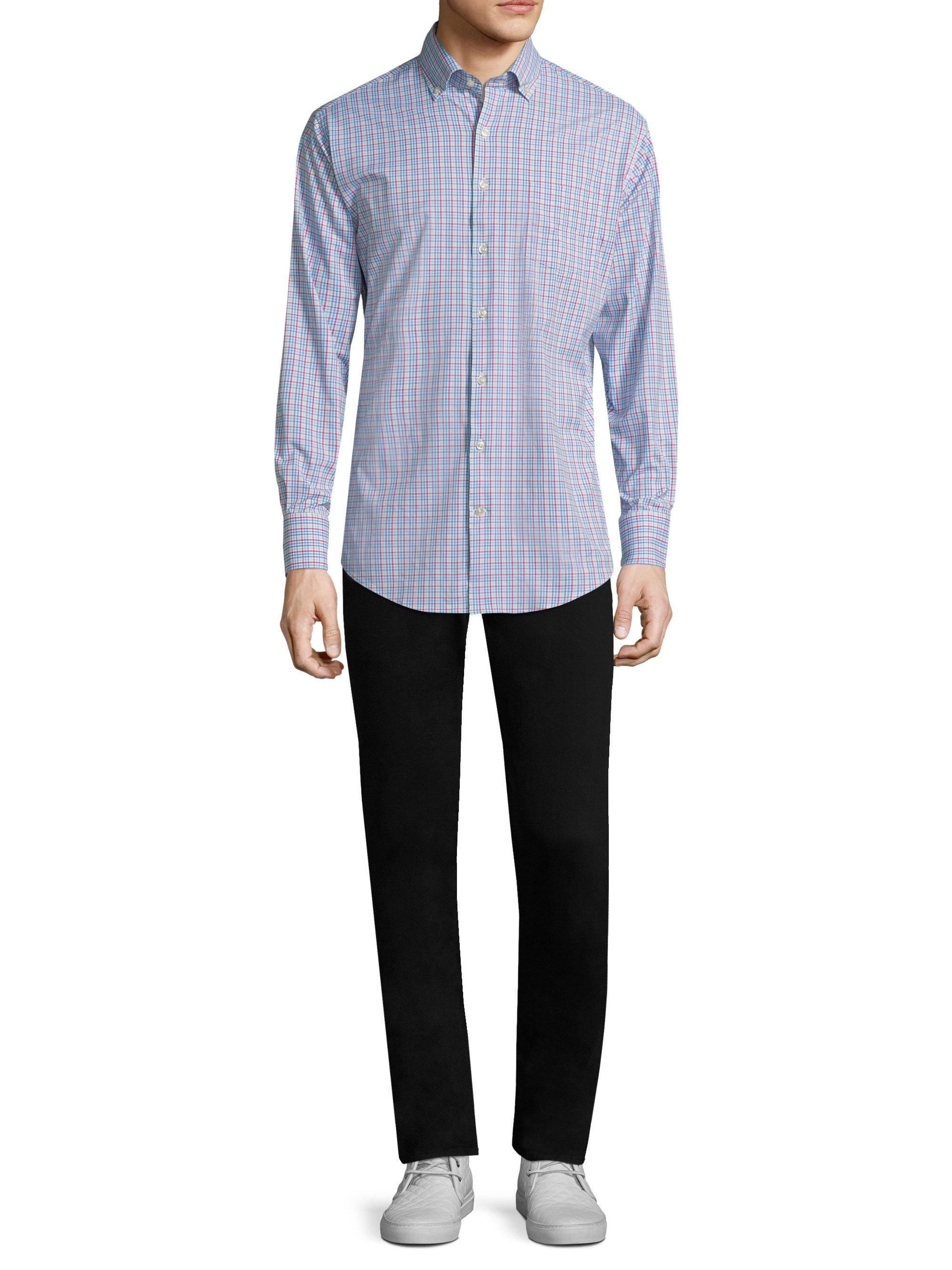 6dbdca8fc8b Peter Millar Smedes Performance Check Button-down Shirt in White for ...