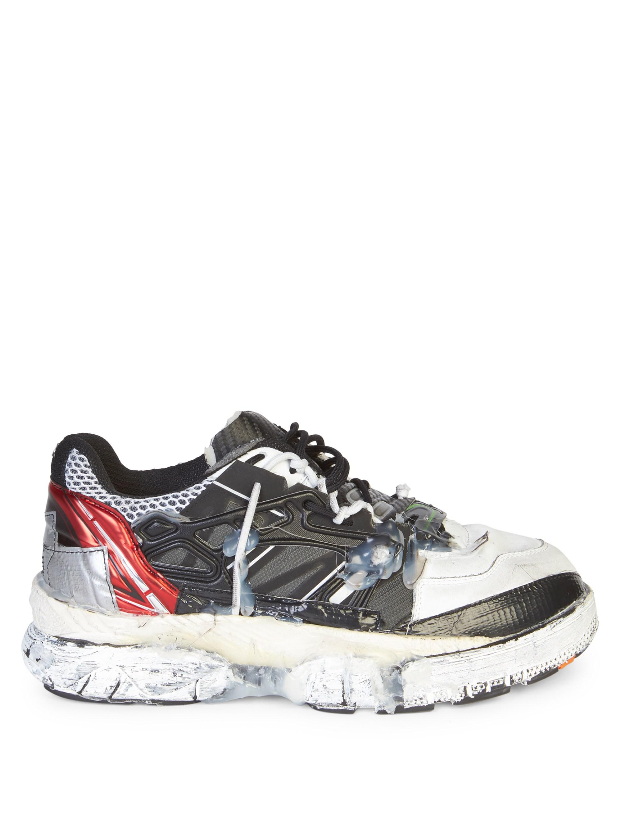 2dacfb0d641 Maison Margiela Leather Fusion Low-top Runners for Men - Save 23% - Lyst