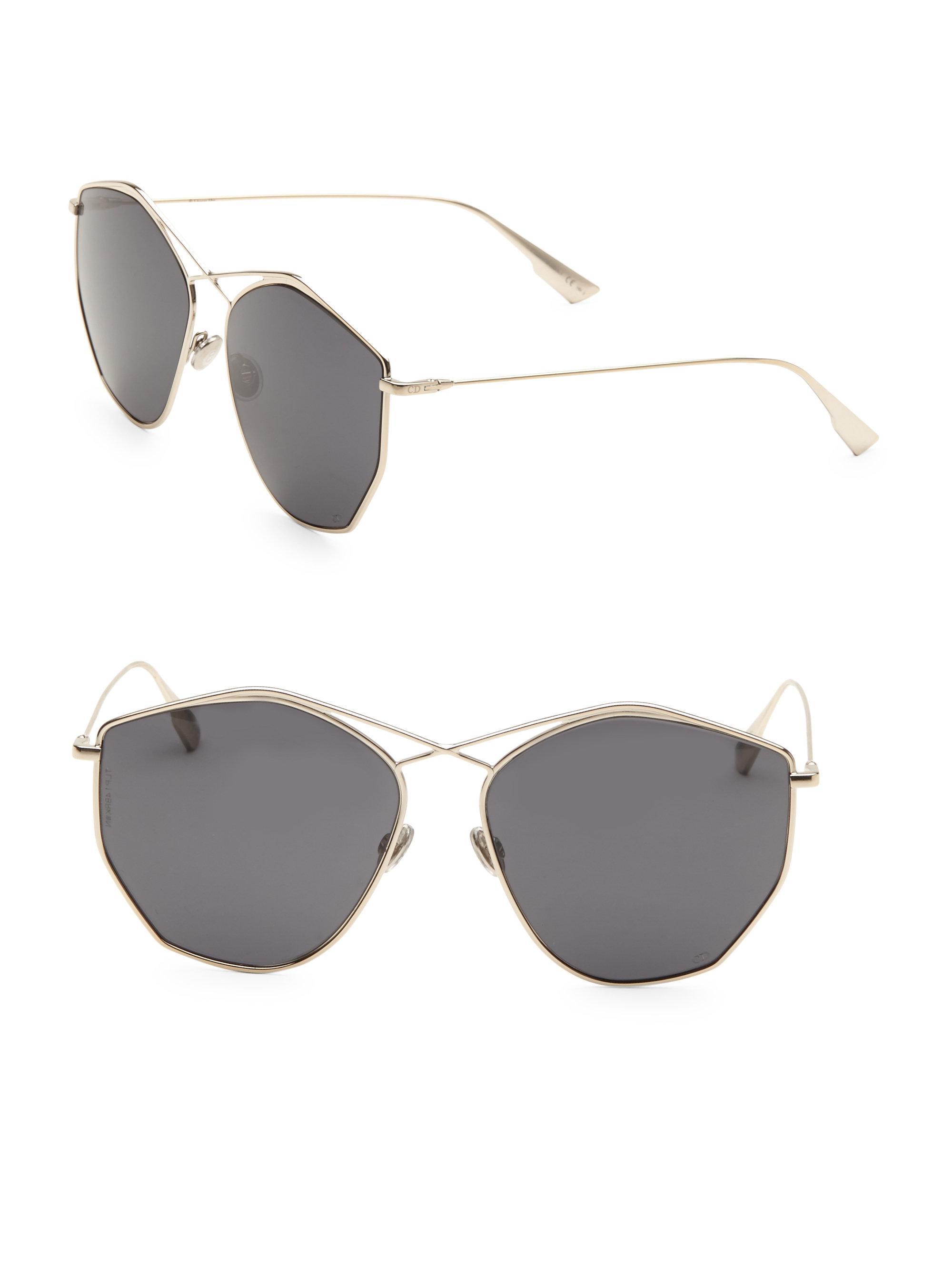 43a119d5b75 Dior Stellaire 59mm Round Sunglasses in Metallic - Lyst