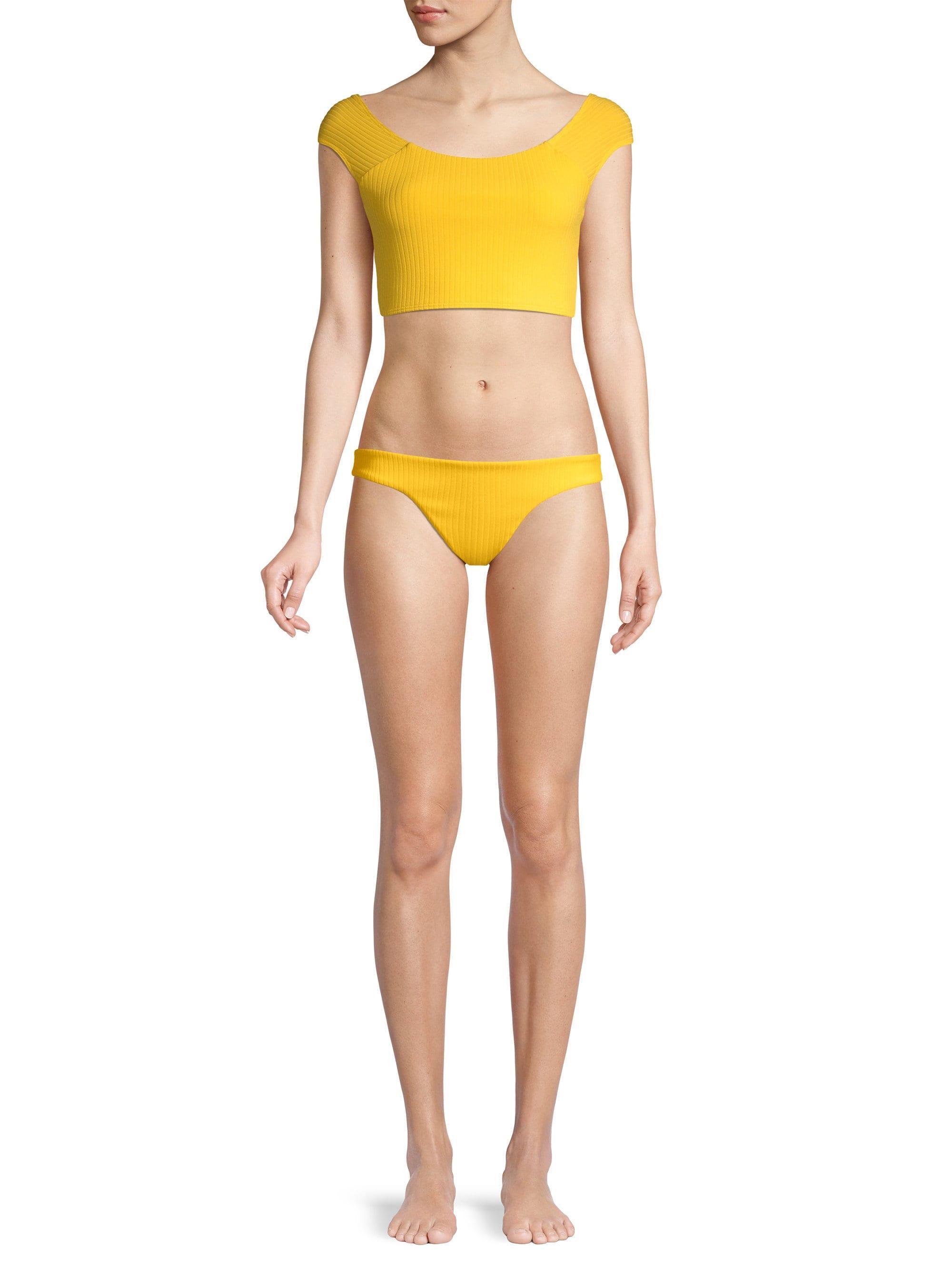 b483668a63 Mara Hoffman - Yellow Naomi Bikini Top - Lyst. View fullscreen