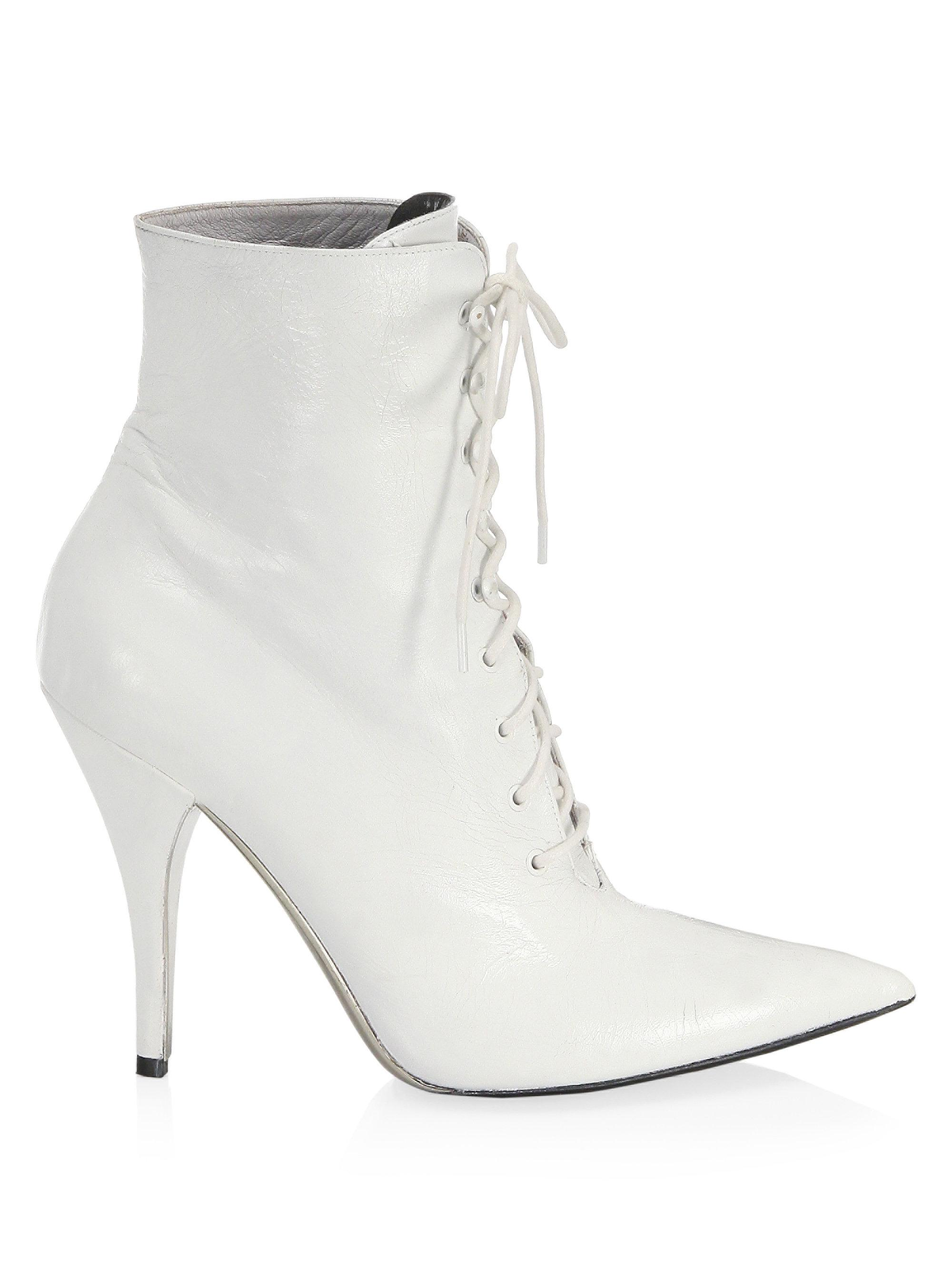Calvin Klein Rosemarie Leather Lace-Up Ankle Boots PYDkqS