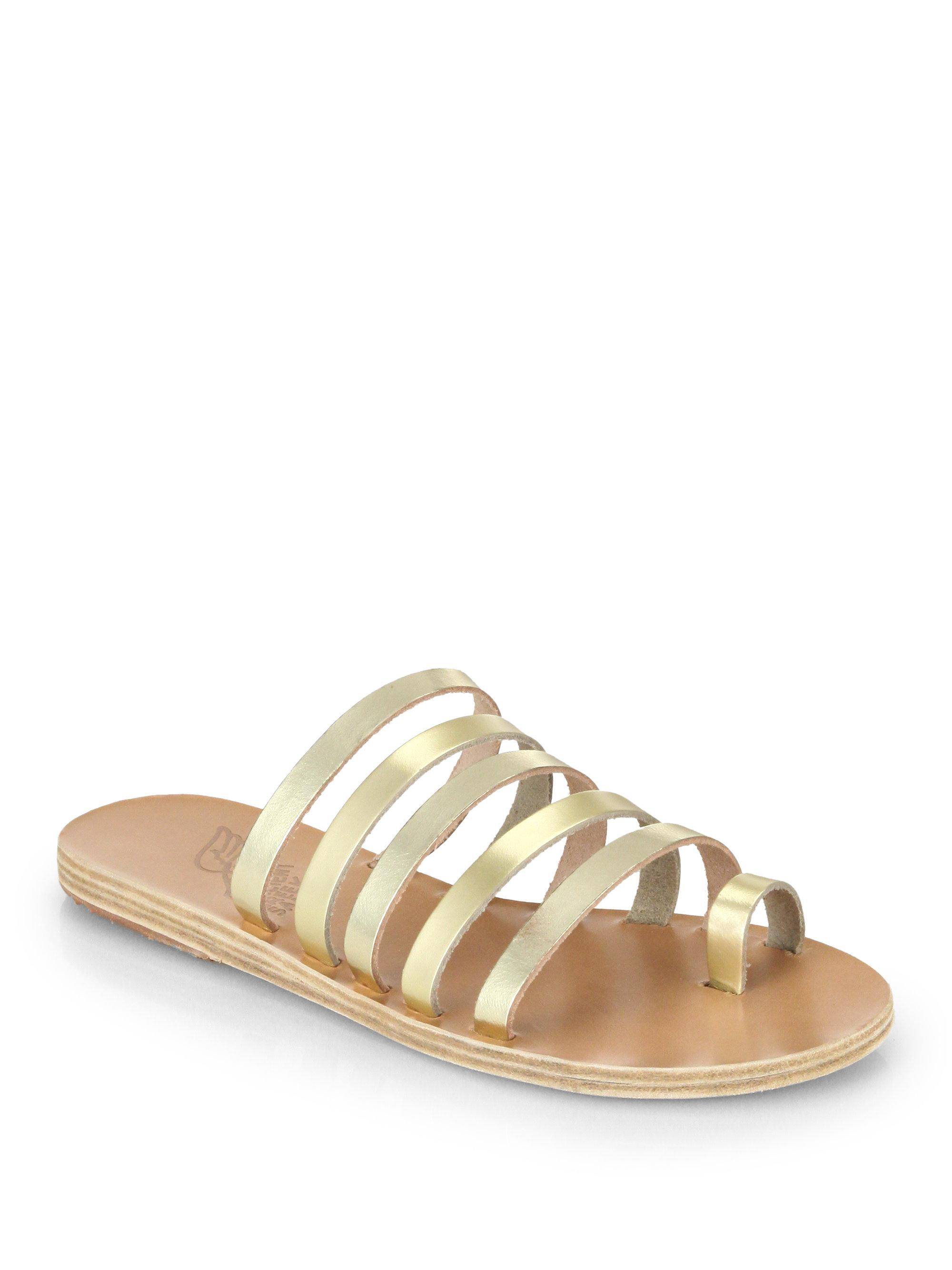 Niki Metallic Leather Sandals - Gold Ancient Greek Sandals Discount Visit Best Cheap Price Discount 2018 Unisex Discount Amazon Free Shipping Sneakernews E4vW4m