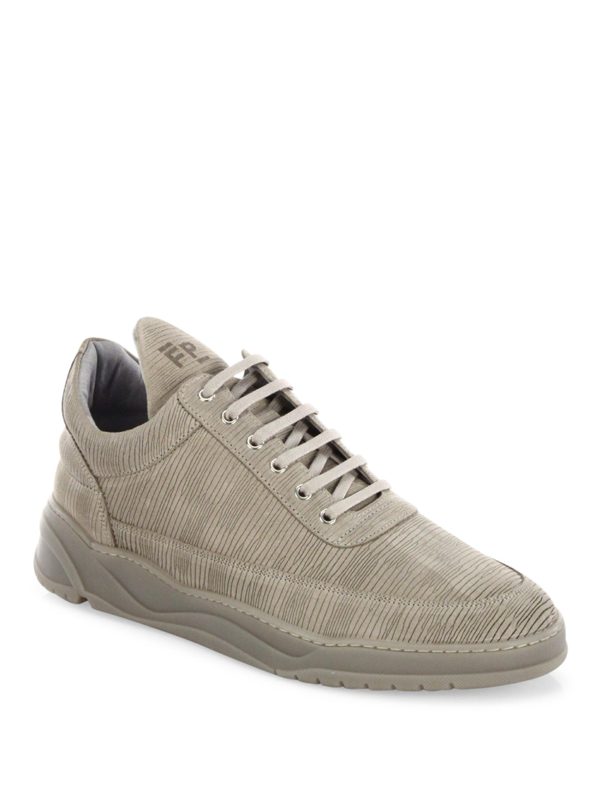 Filling pieces Astro Striped Suede Low-Top Sneakers OBCwnK