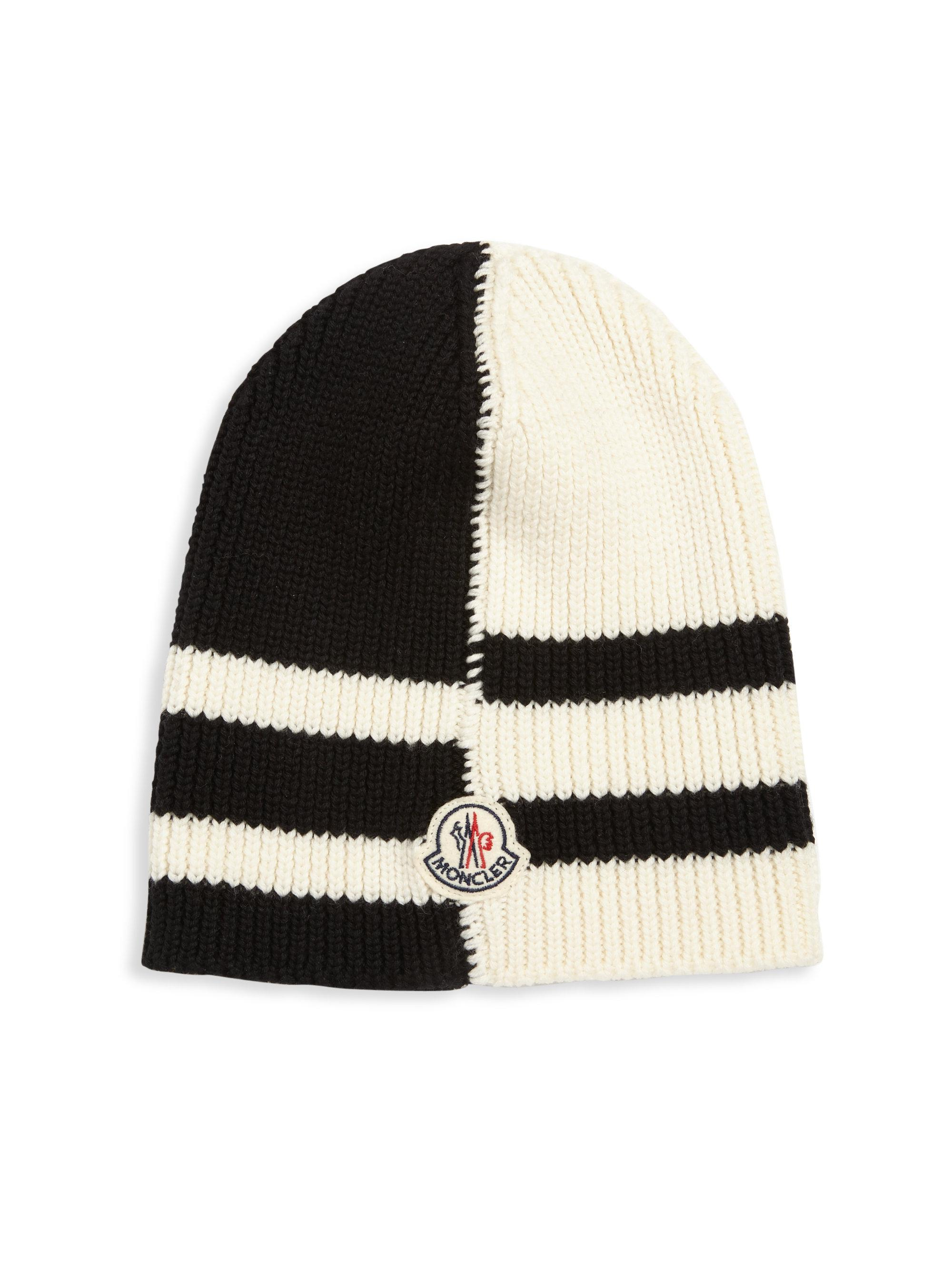 f2156946ea5 Lyst - Moncler Rib-knit Wool Beanie in Natural for Men