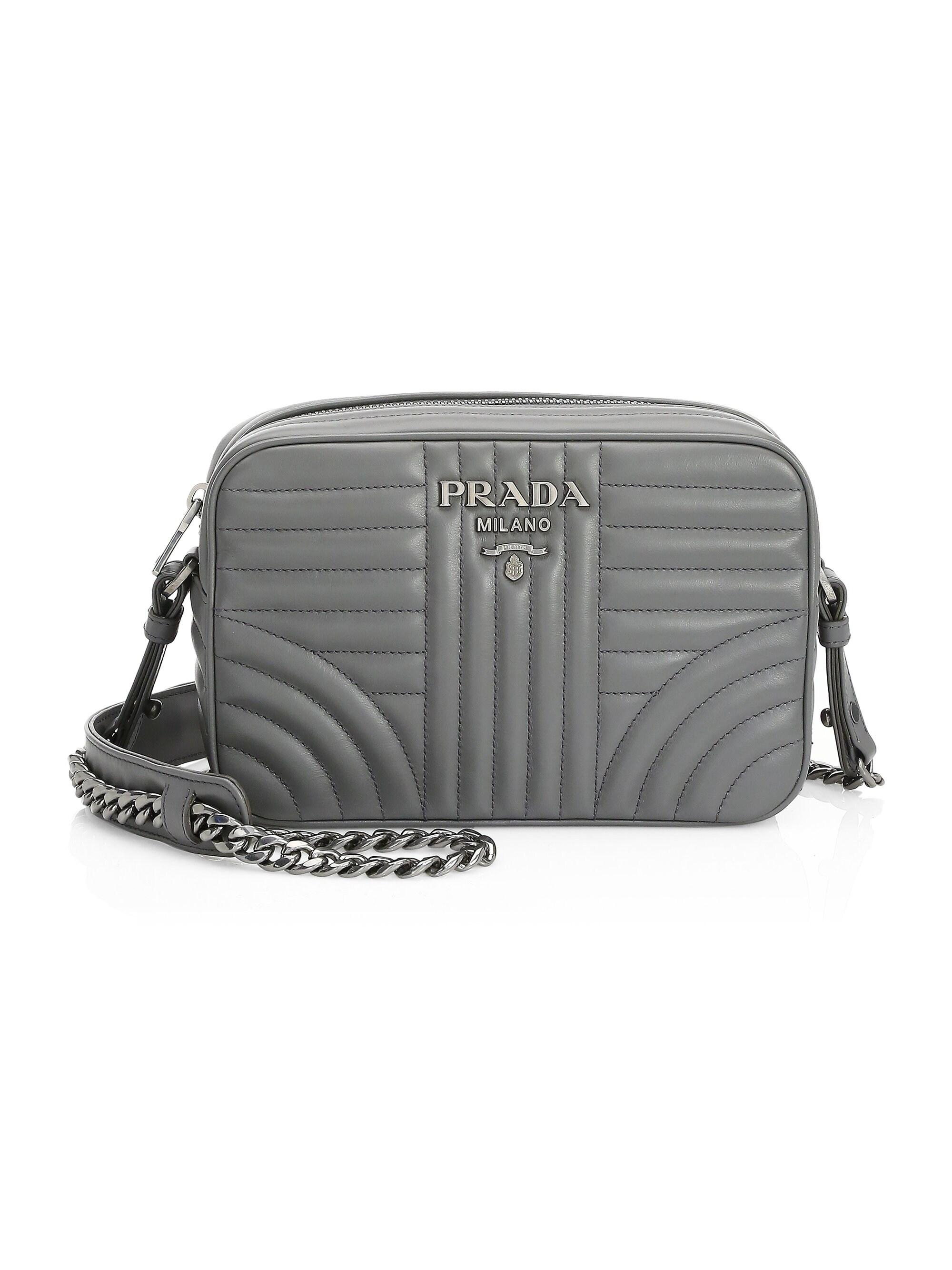 b1002d90b4bfdd Prada Women's Diagramme Camera Bag - Esmeraldo in Gray - Save 45% - Lyst