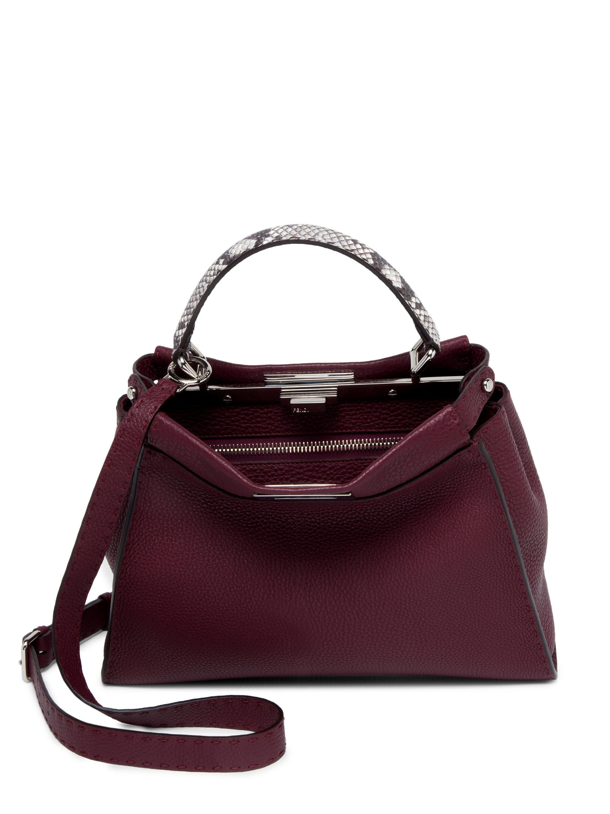 Fendi - Multicolor Selleria Peekaboo Leather Handbag - Lyst b6644e2796782