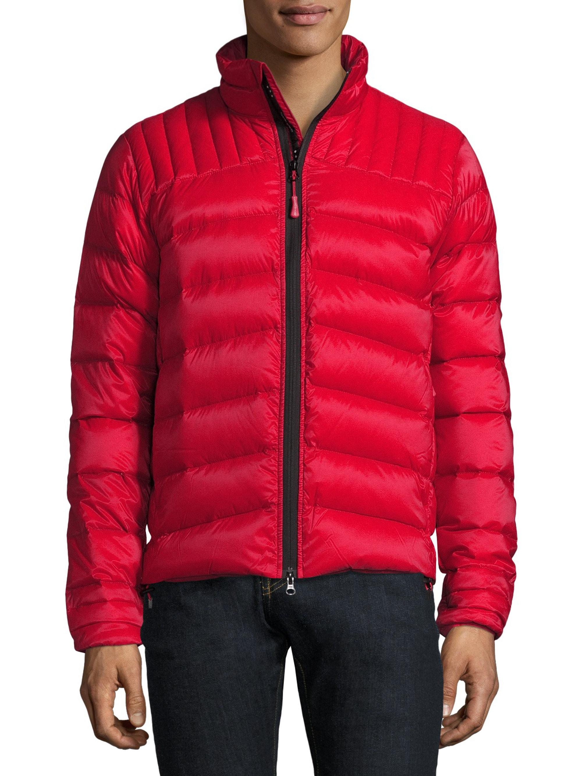 canada goose jacket mens red