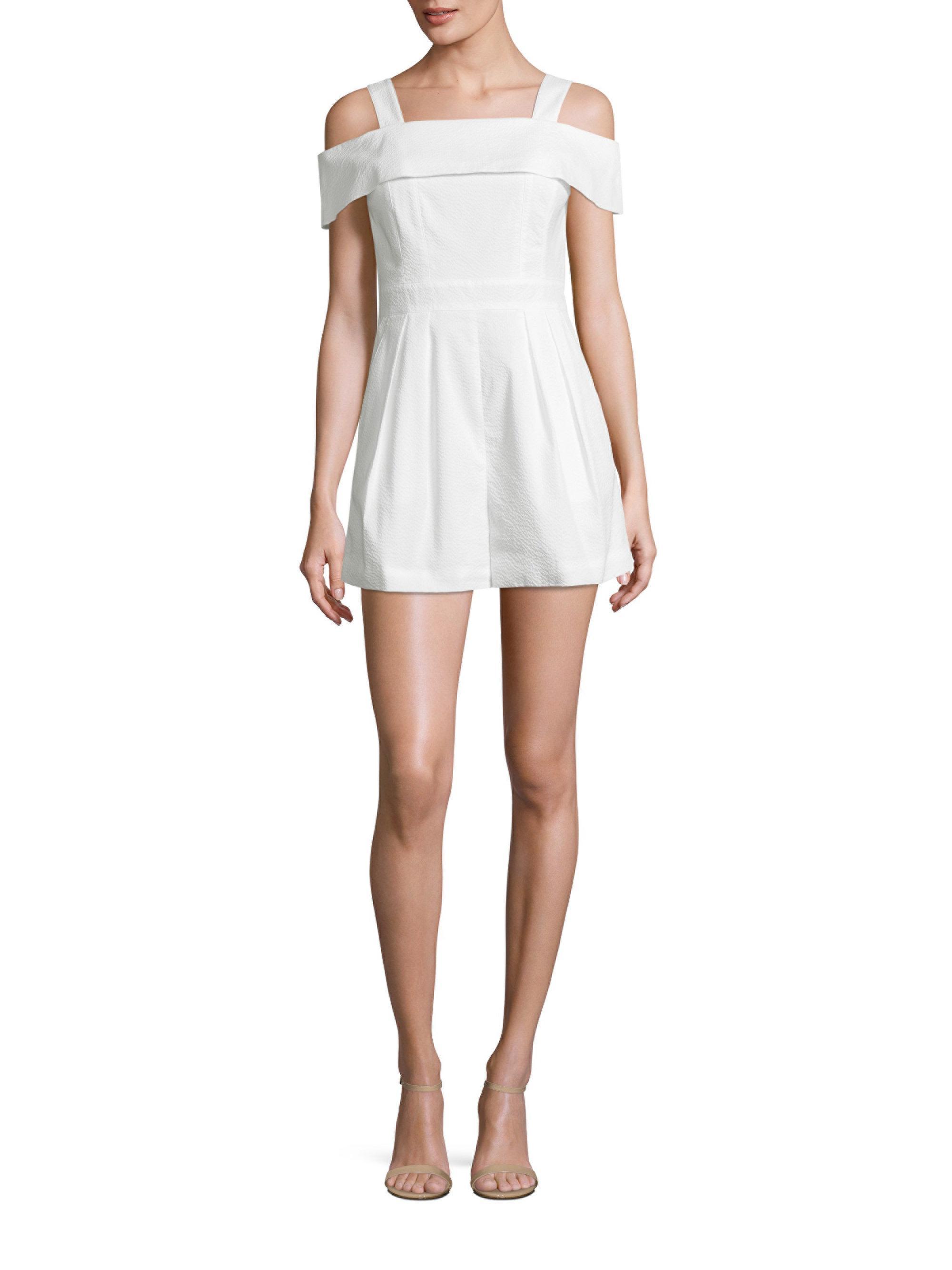 90faf2681d53 Lyst - Tibi Seersucker Jumpsuit in White