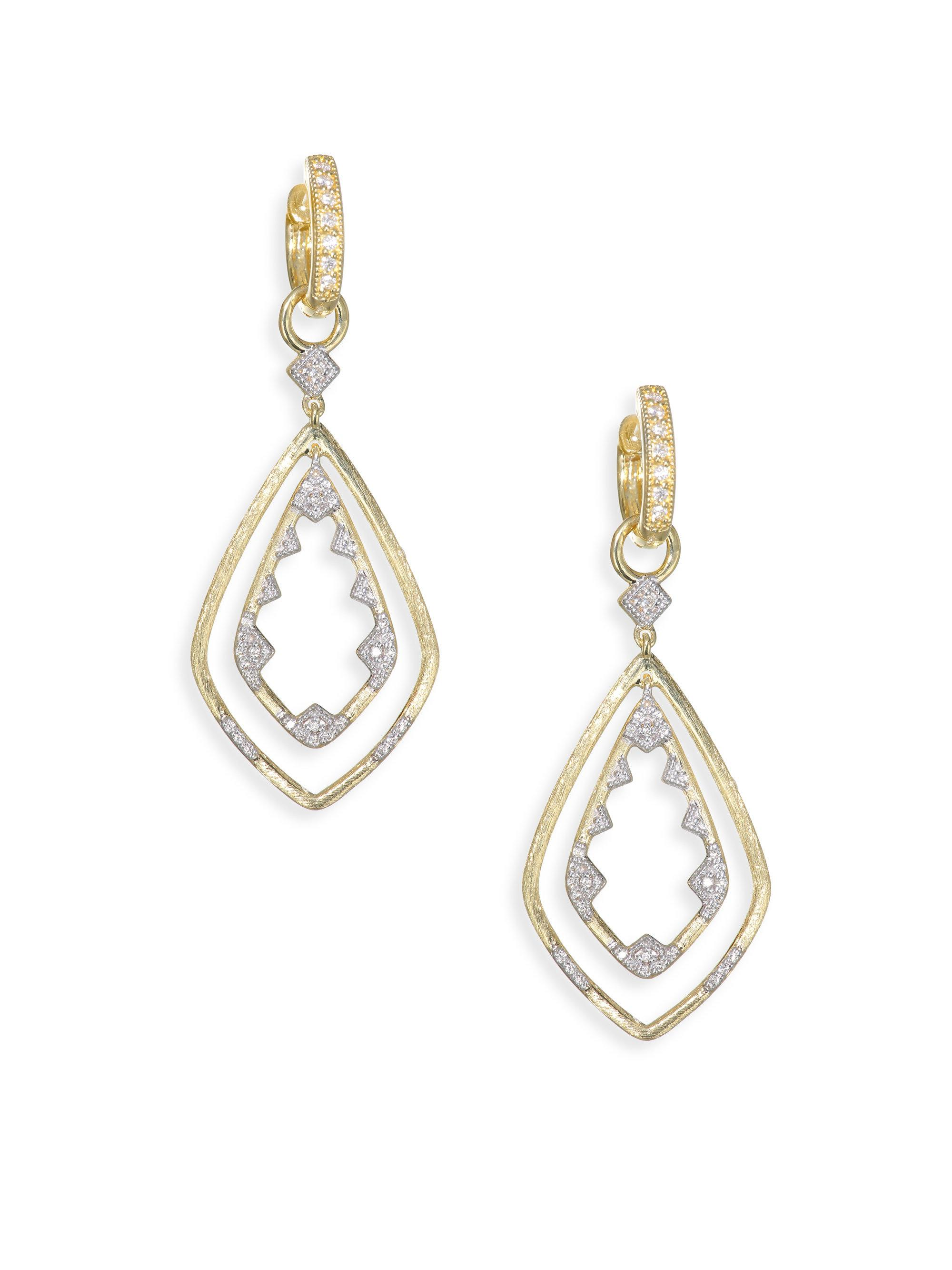 Jude Frances 18k Lisse Round Kite Earring Charms, Pink Triplet