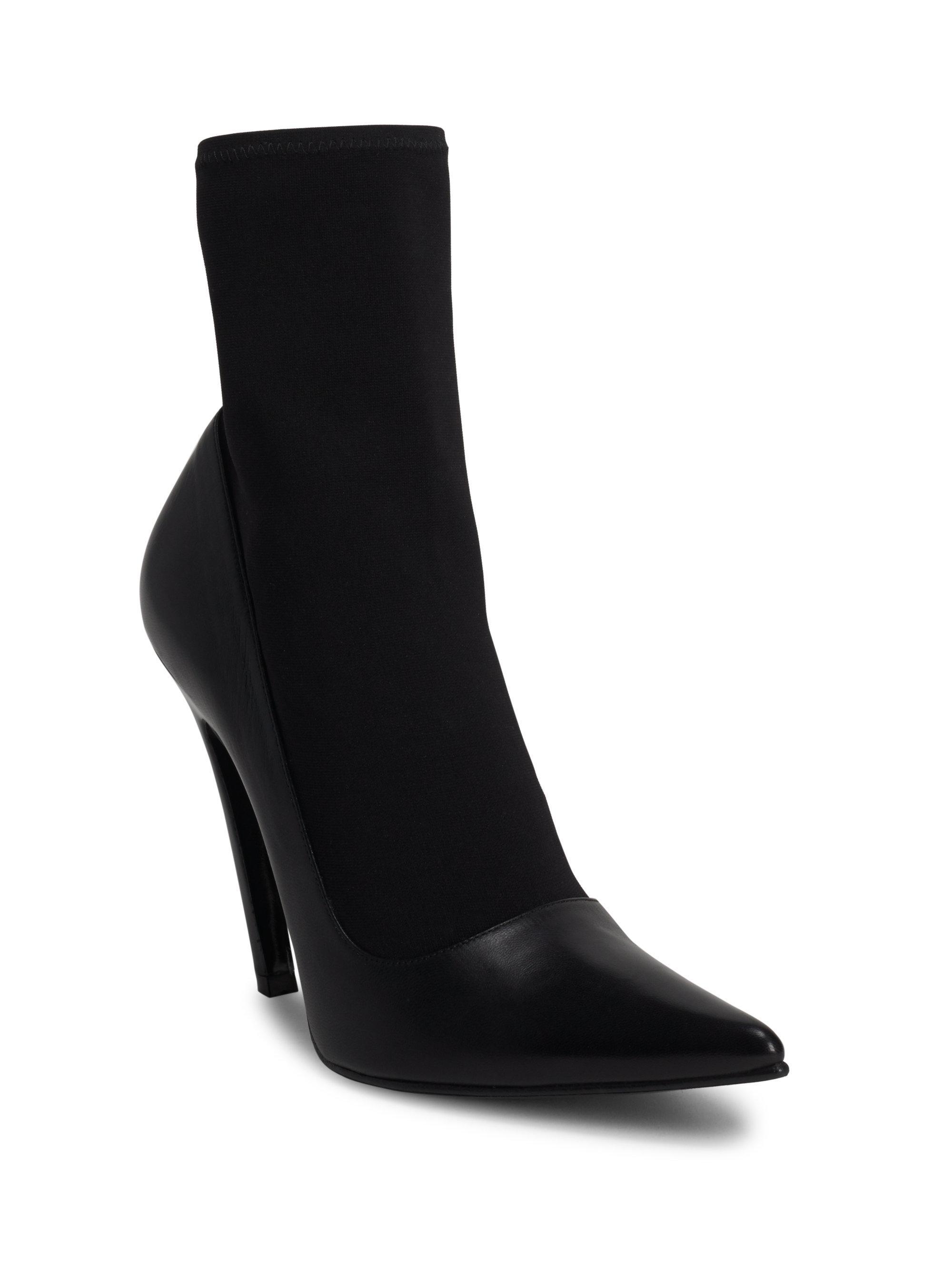 Balenciaga Sock \u0026 Leather Pumps in