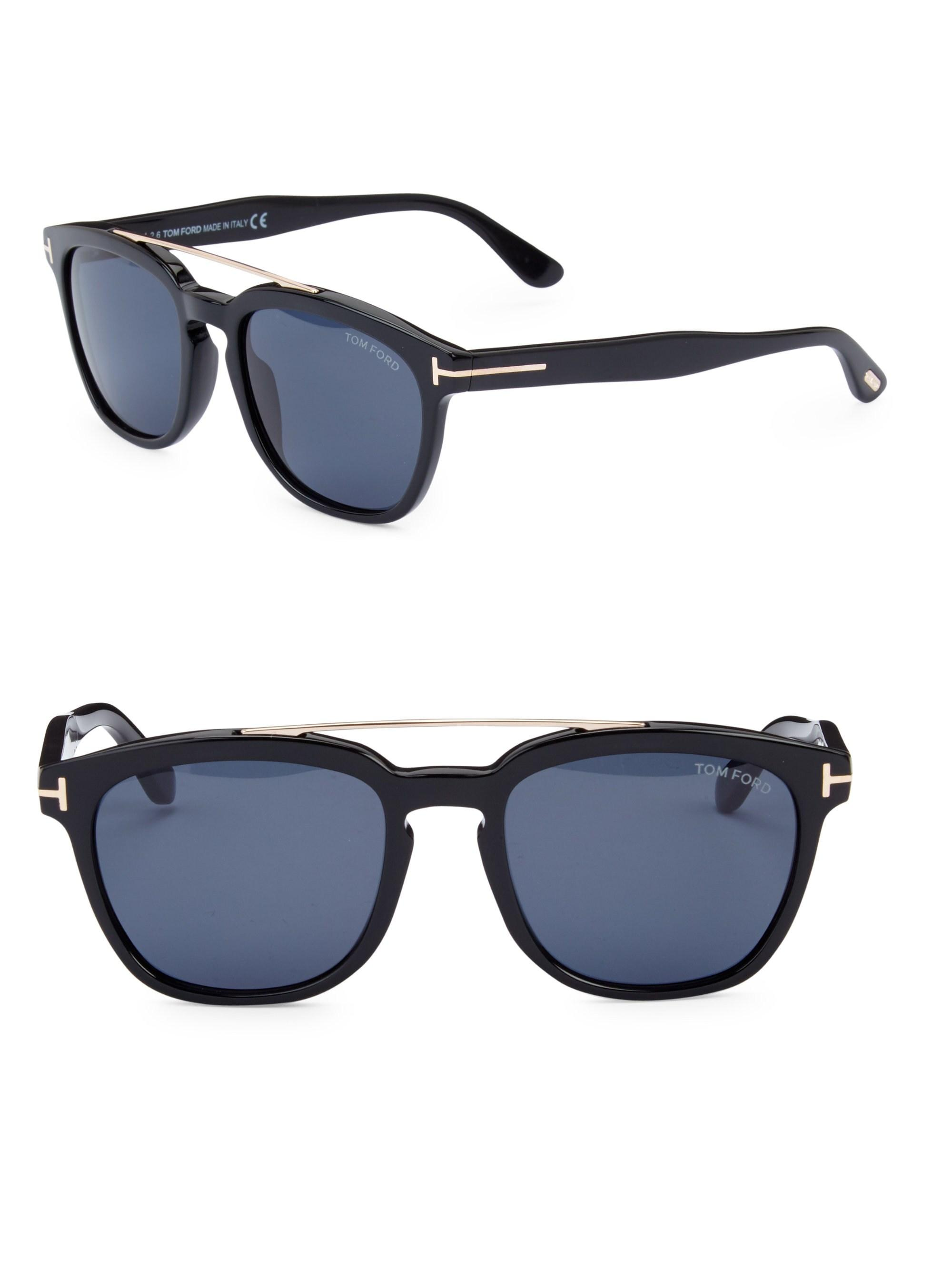 ec8d7ec7c1e Tom Ford - Black Holt 54mm Square Sunglasses for Men - Lyst. View fullscreen