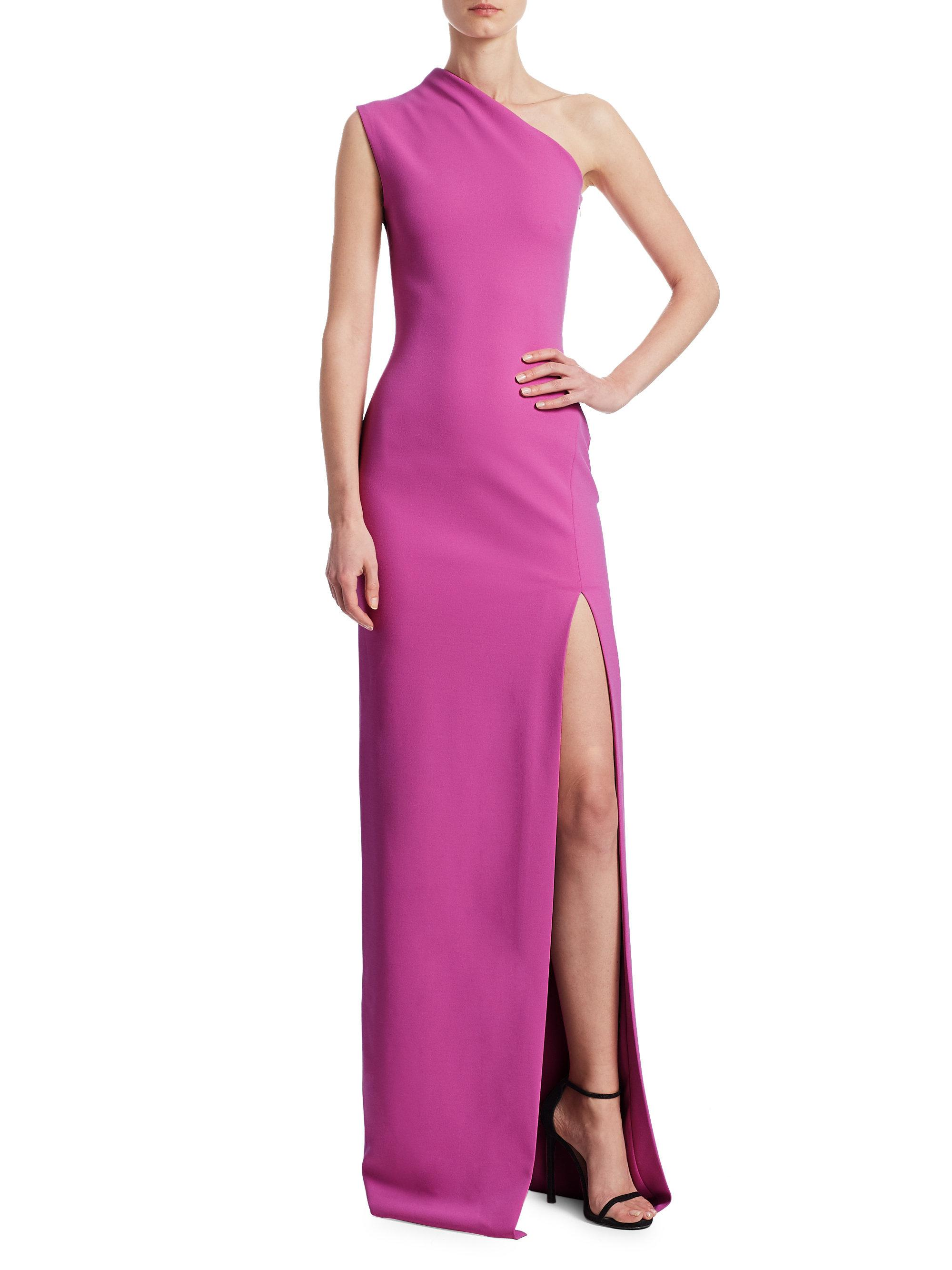 240a44ad20 Solace London Averie One-shoulder Gown in Purple - Lyst