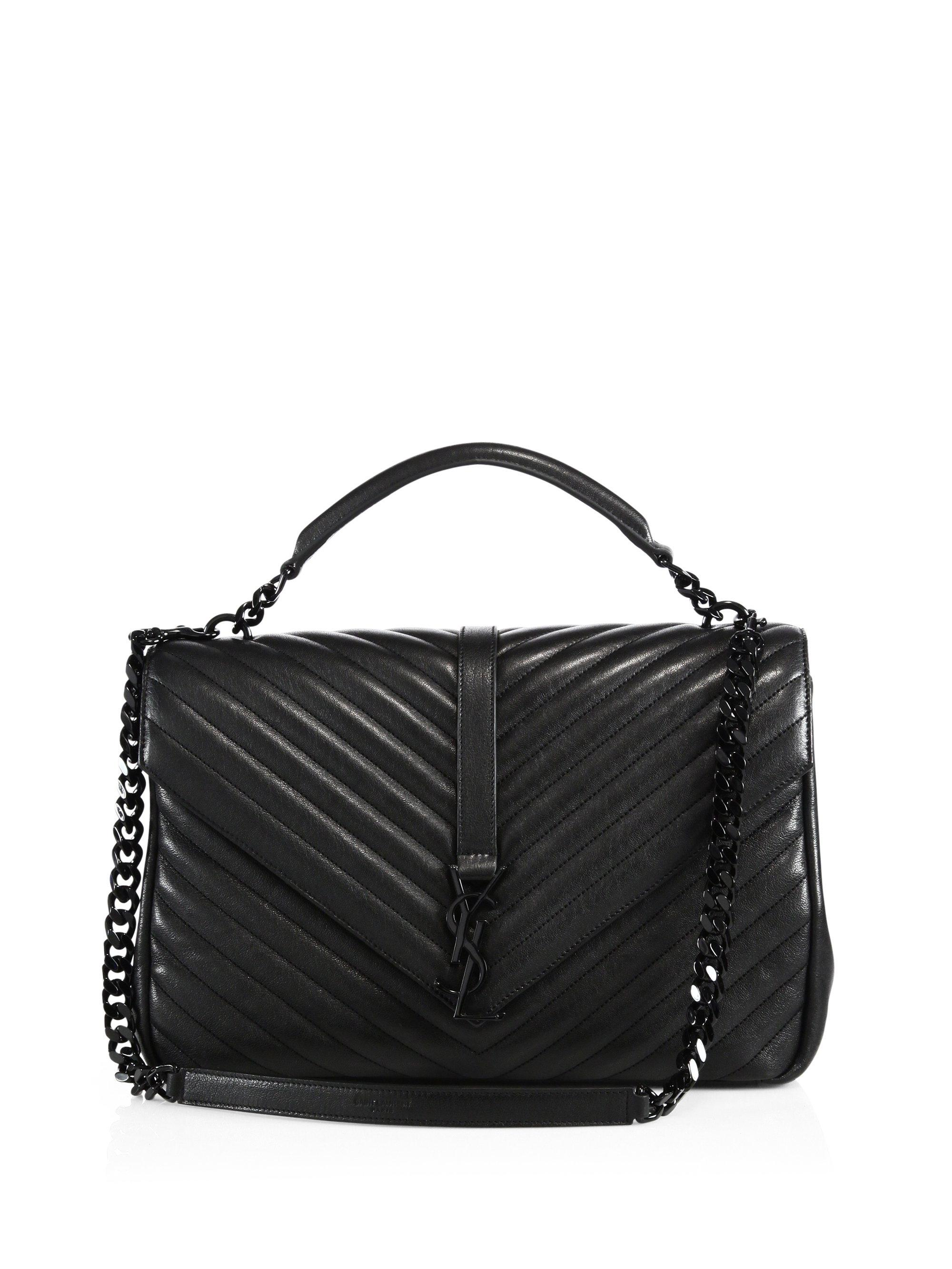 7b4a2818a7 Saint laurent College Monogram Large Quilted Leather .
