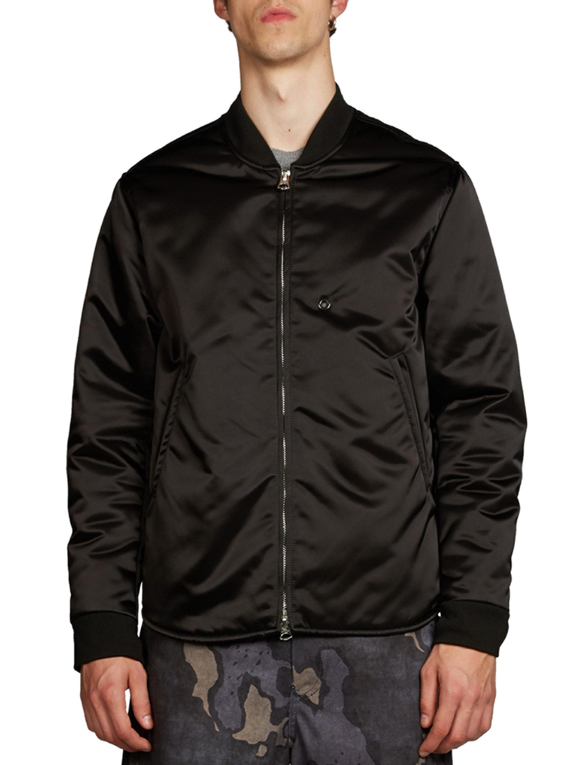 d66ceef09 Acne Studios Mylon Bomber Jacket in Black for Men - Lyst