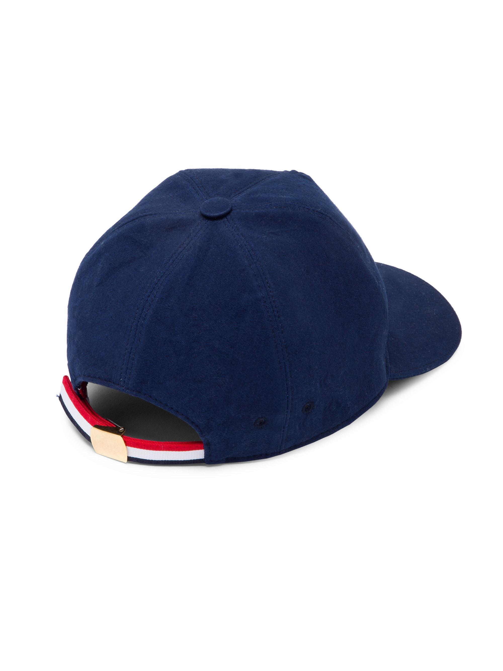 Blue 6-panel baseball cap Thom Browne mczCjWmt2C
