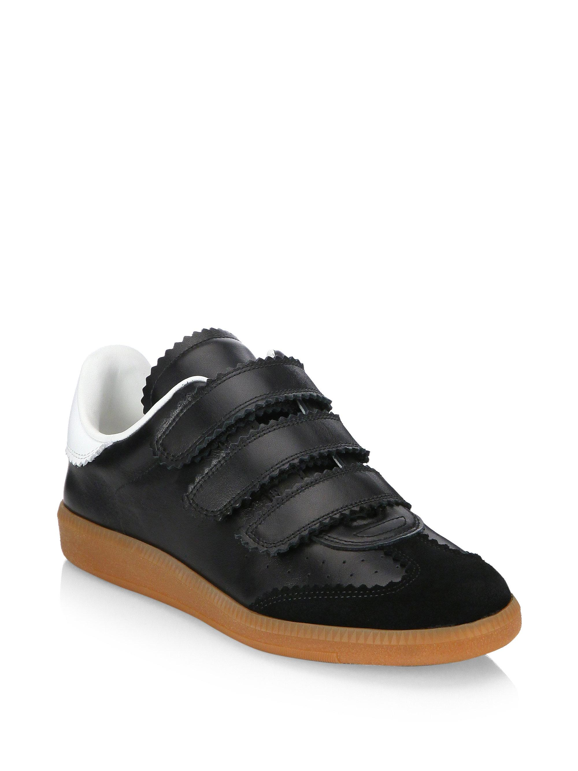 Isabel Marant Beth Grip-Tape Leather Sneakers 7AAvqSC