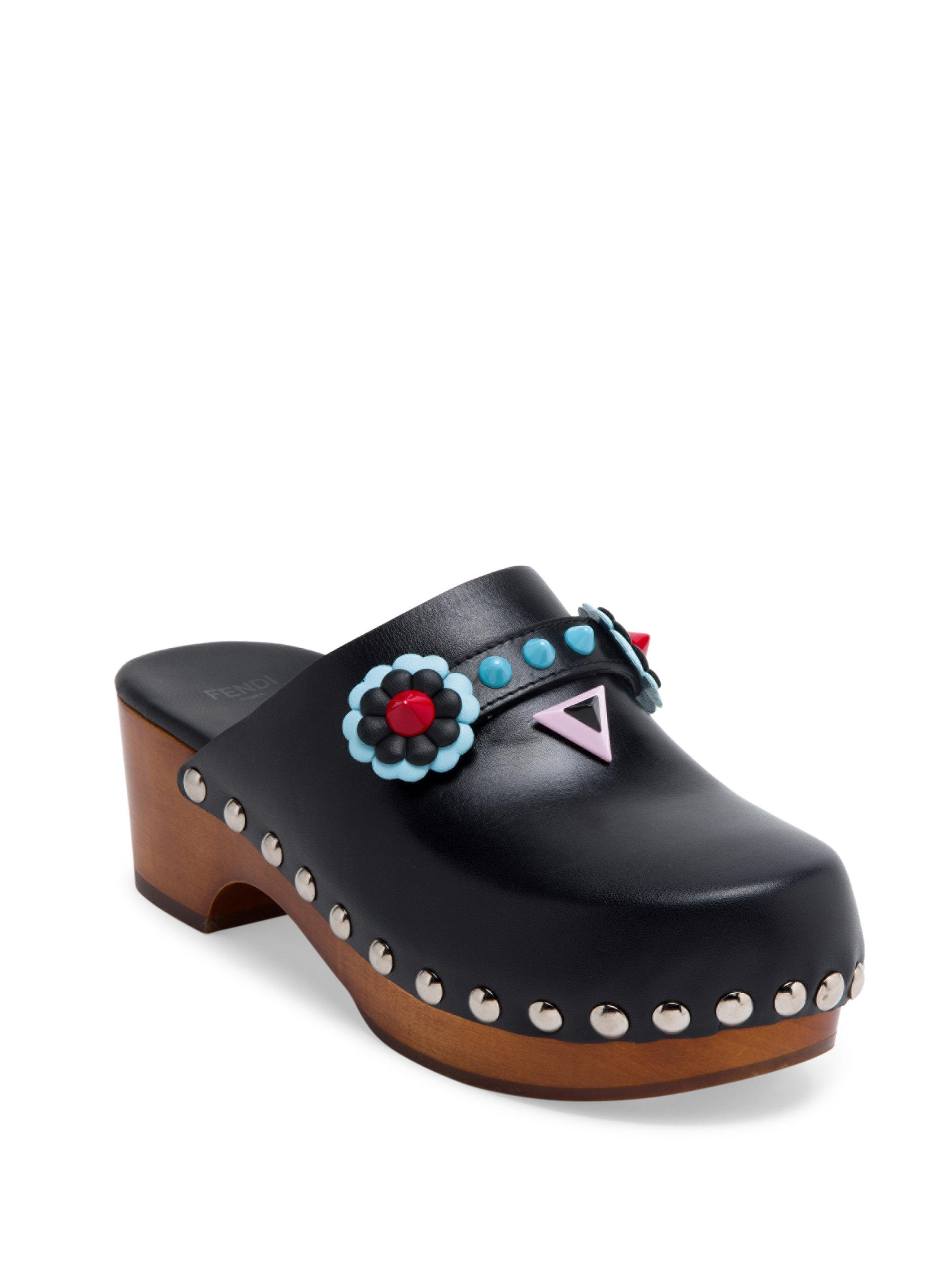 Pre-owned - LEATHER CLOGS Fendi iWhbXcs