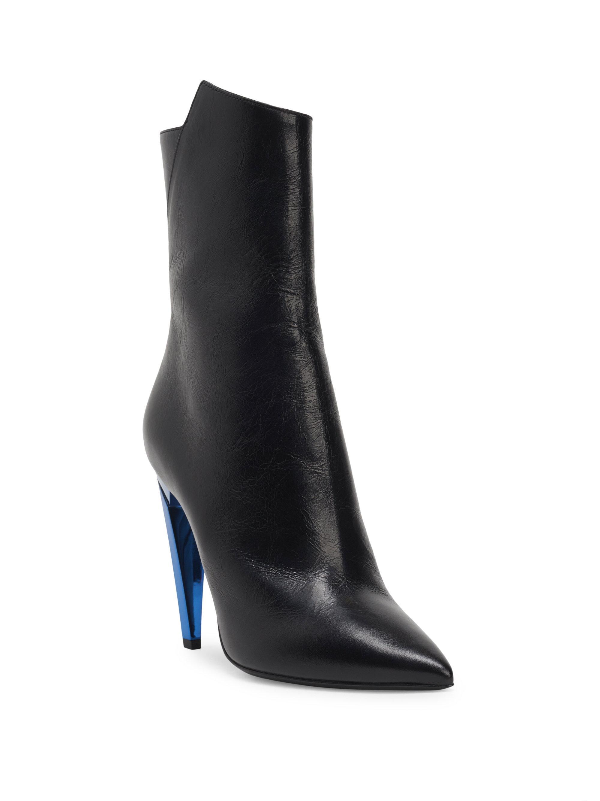 Saint Laurent Metallic Heel Freja Boots 2kK7H