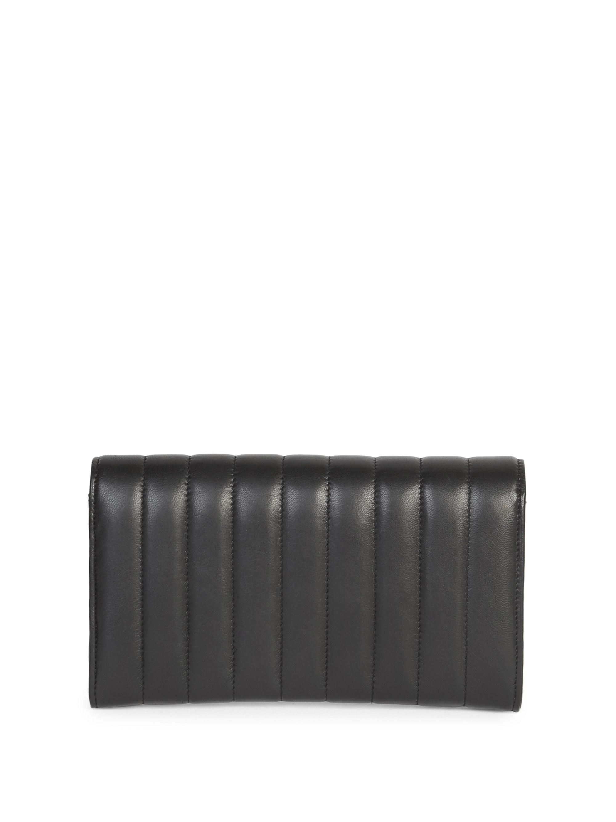 6b57a23a32809 Saint Laurent Vicky Matelasse Leather Continental Wallet in Black - Lyst