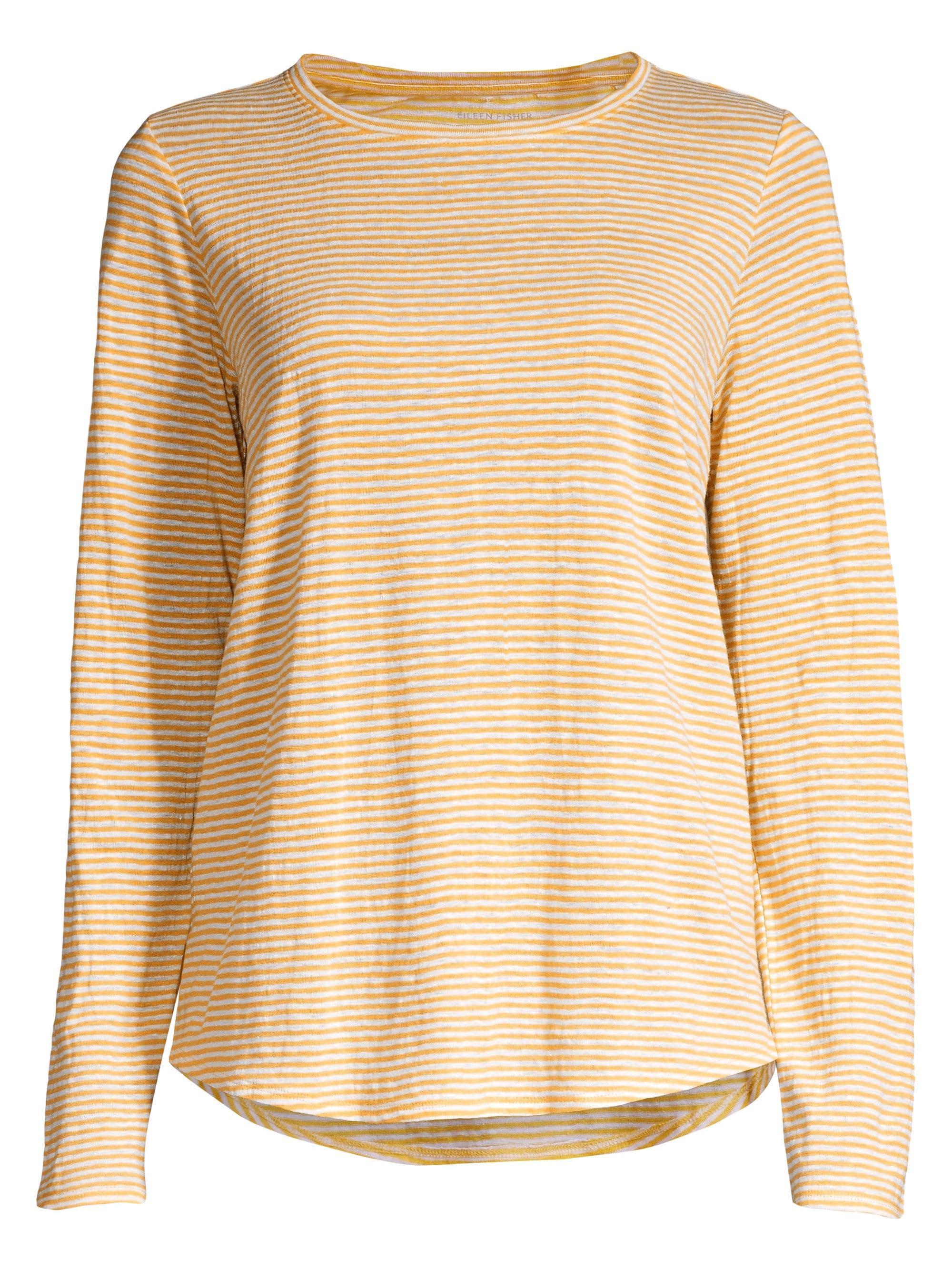 e58c76483d2aaa Eileen Fisher. Women s Striped Organic Linen T-shirt