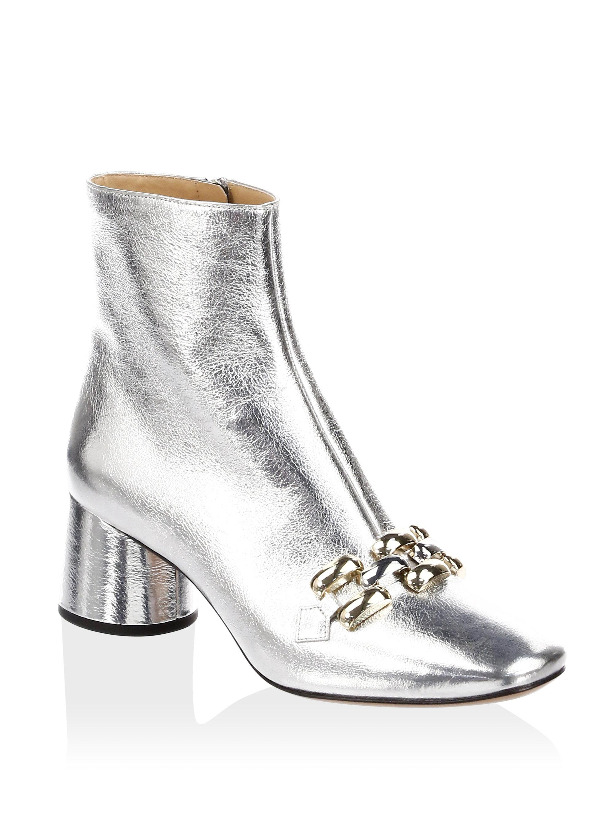 Marc Jacobs Remi Chain Link Leather Booties REdYndmV
