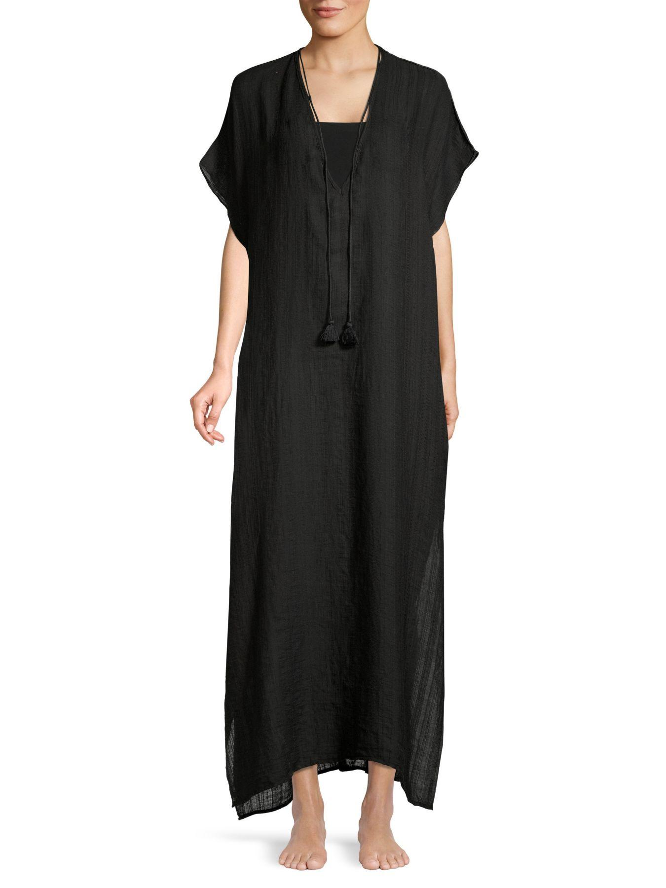 Robin Piccone Womens Michelle Long Caftan Cover Up