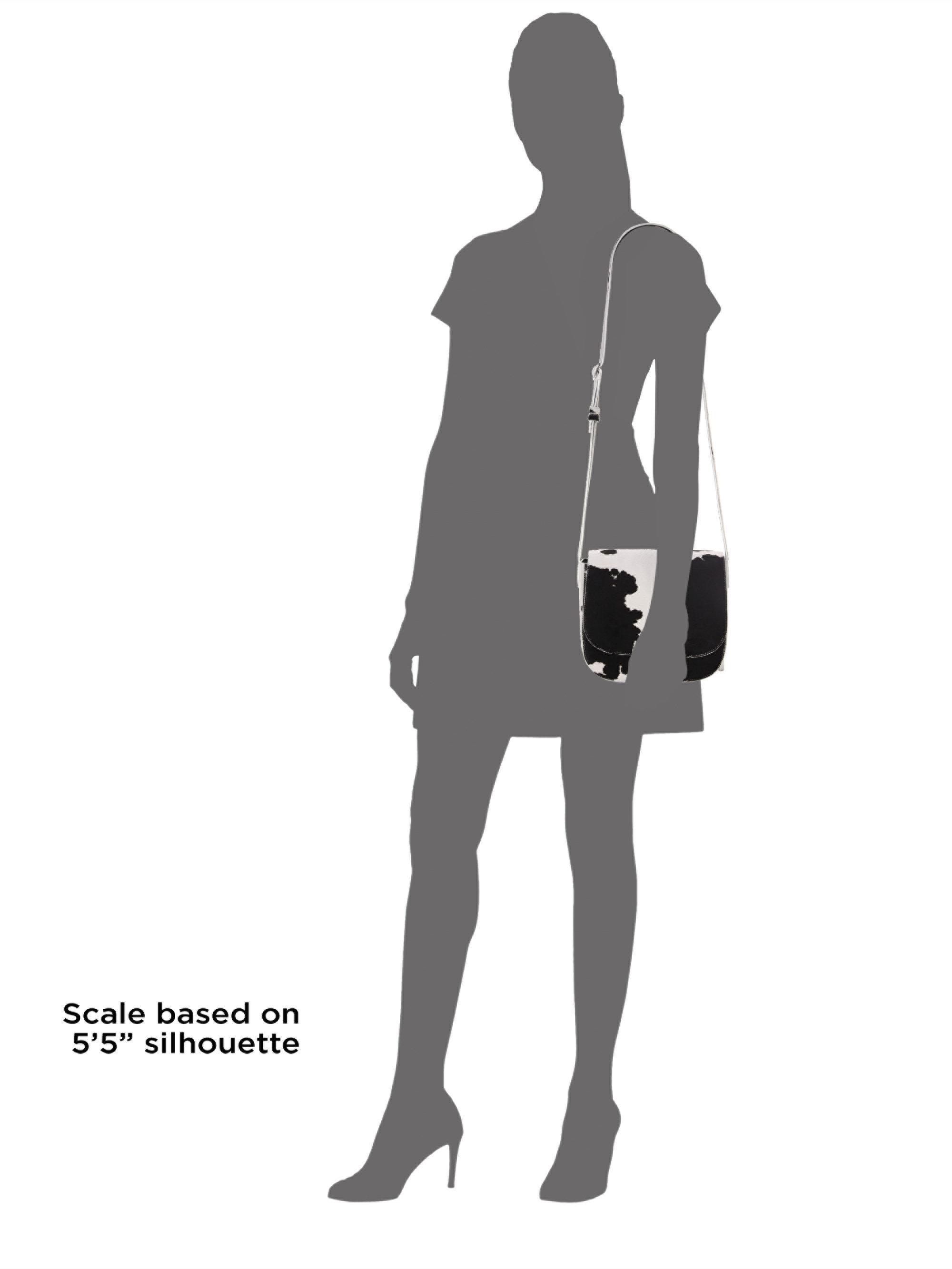 9455b66d55 CALVIN KLEIN 205W39NYC Women's Calf Hair Saddle Bag - White Black in ...
