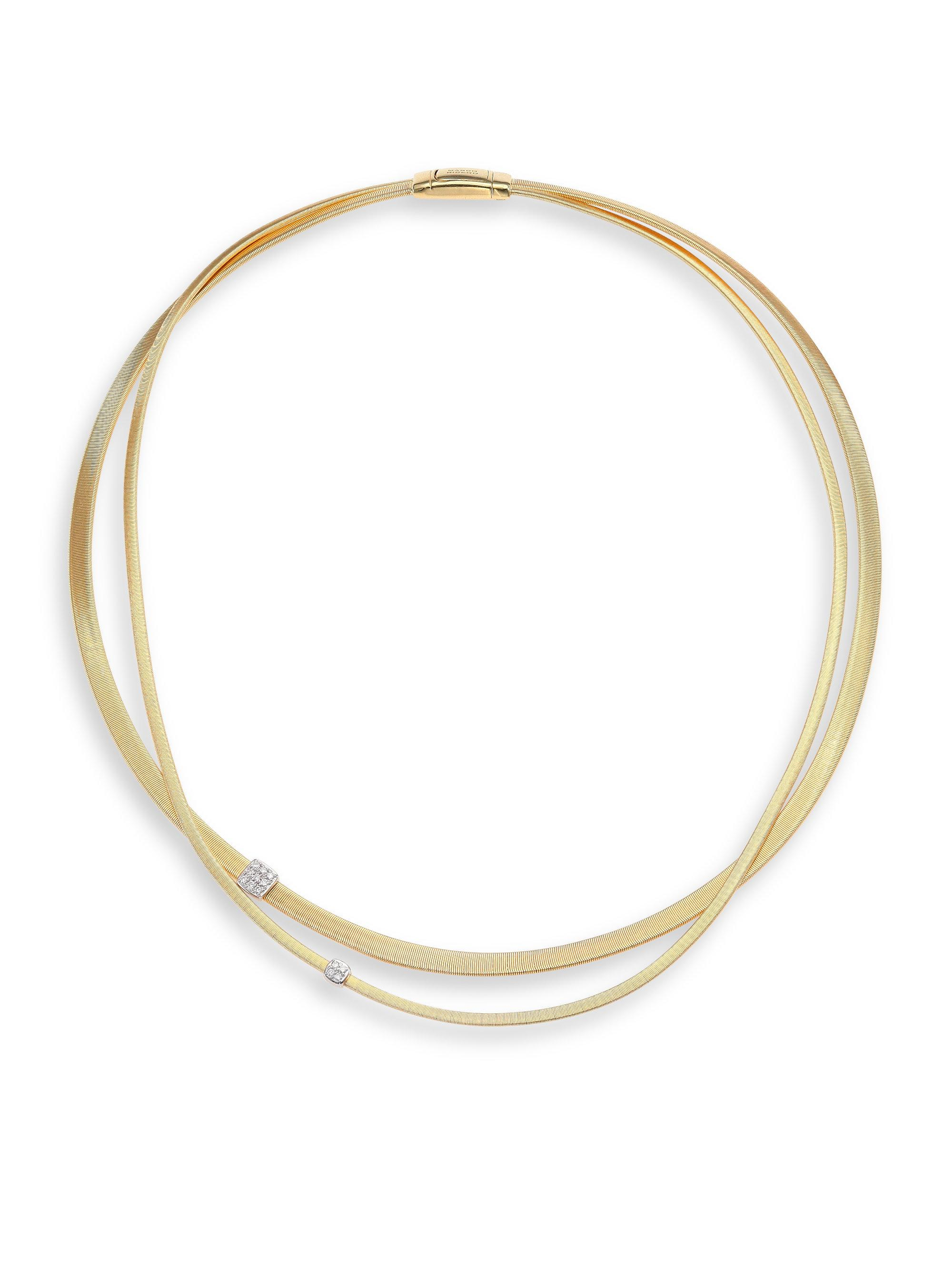 Marco Bicego Masai 18K Yellow Gold Two-Strand Necklace with Diamond Stations JvM1E7h