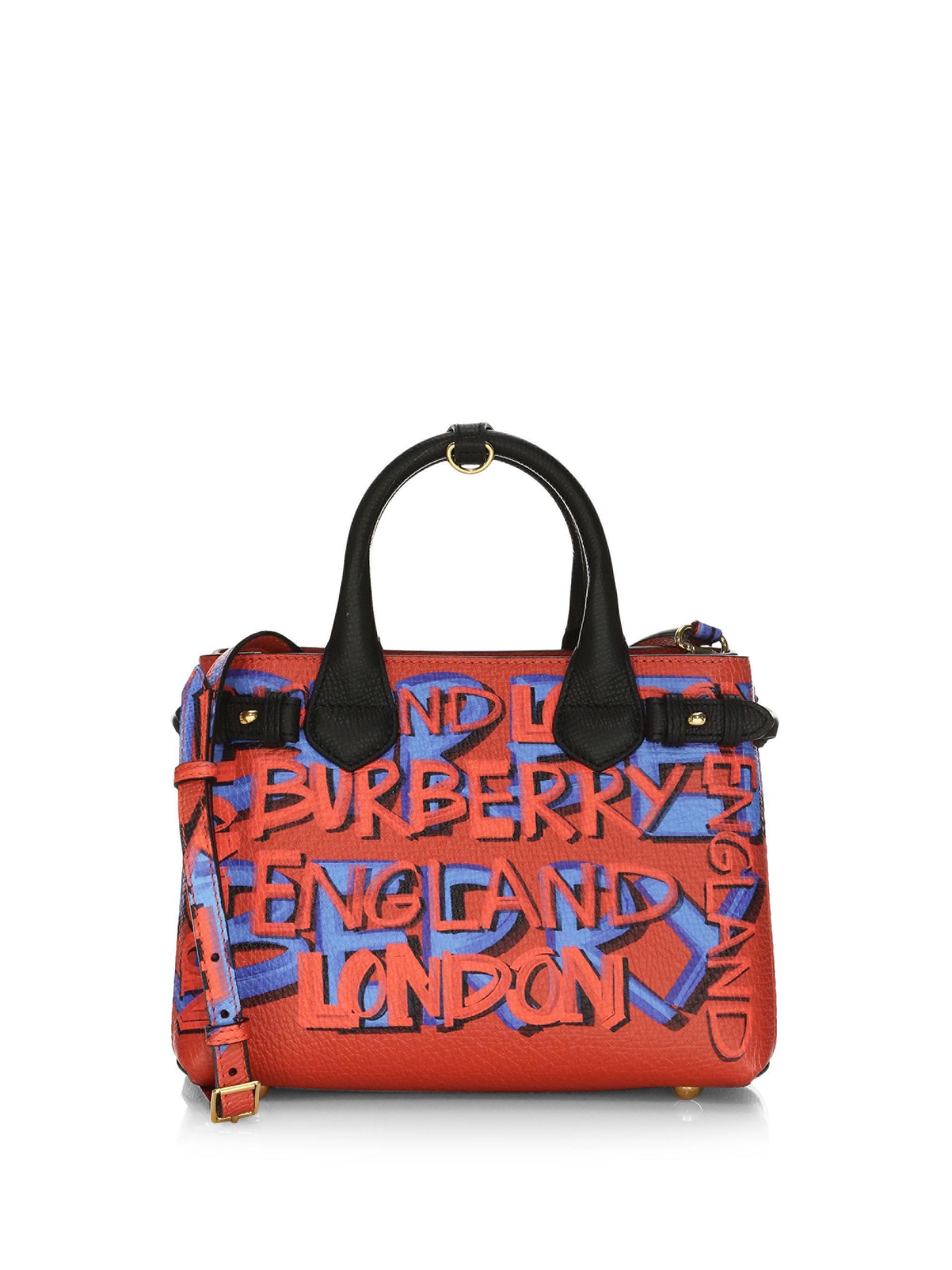 aa954d5d4afd Burberry Multicolor Small Banner Graffiti-print Leather Mini Bag