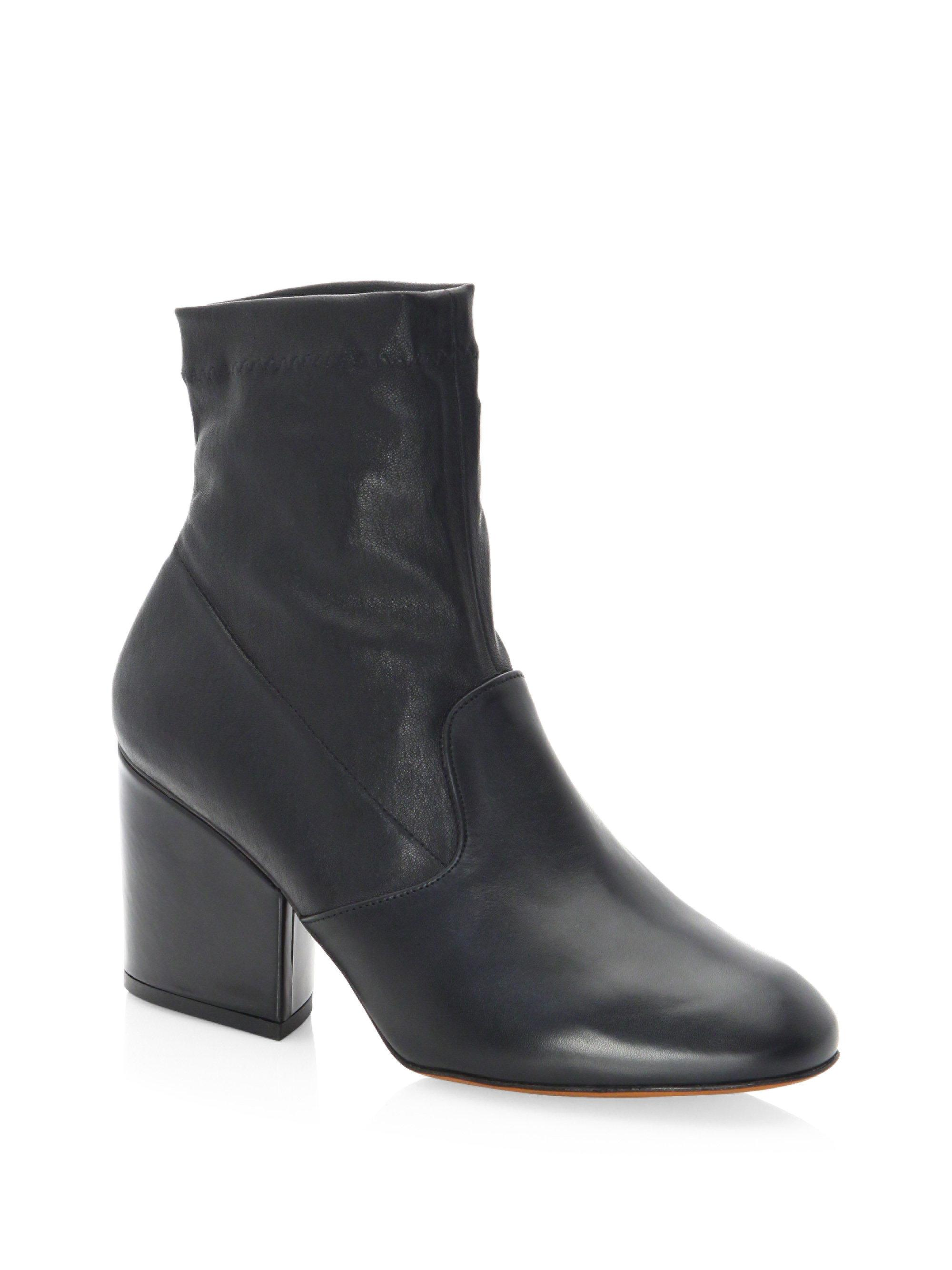Robert Clergerie Stretch Tear Leather Booties 6Cqka01