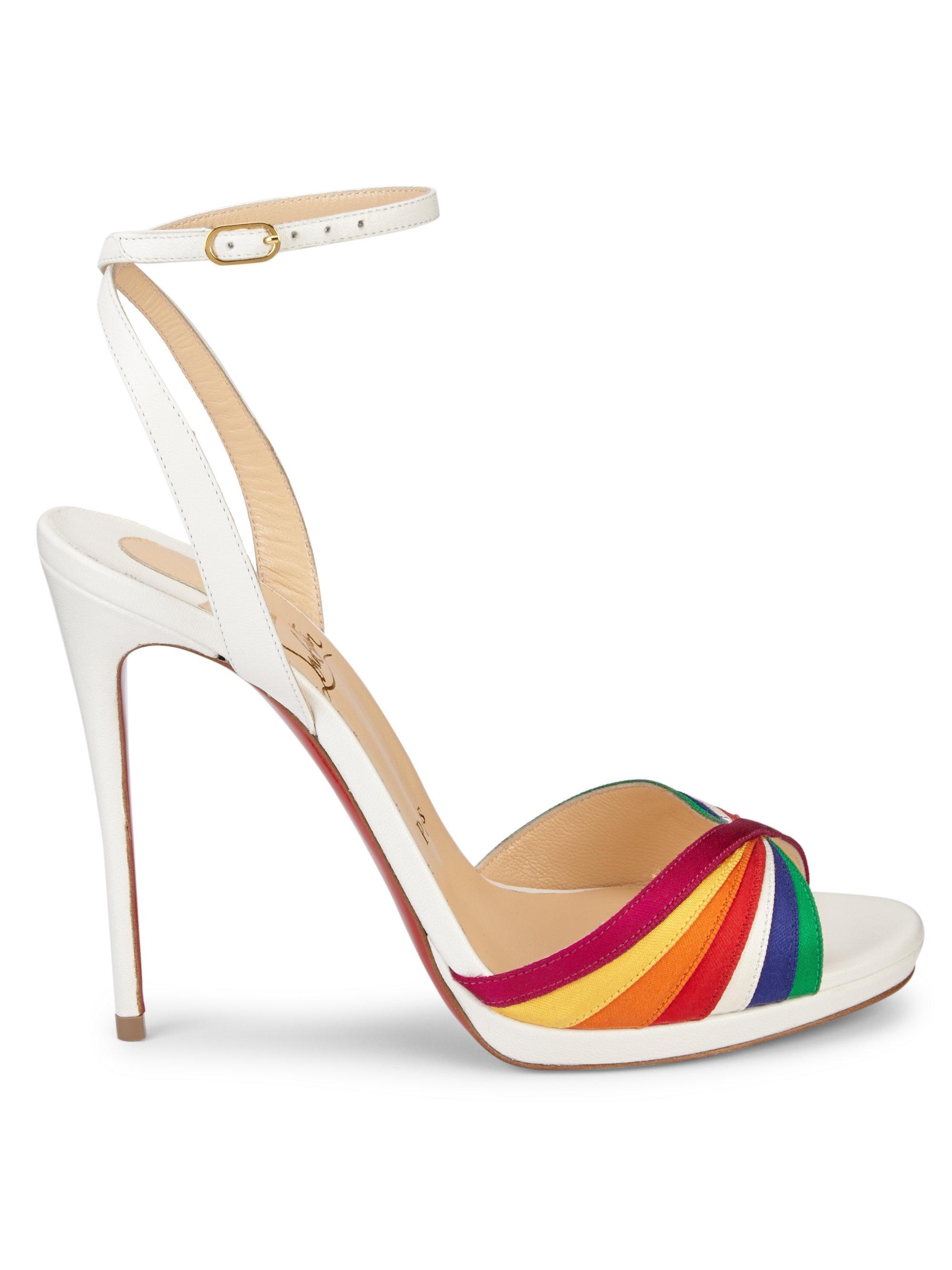 more photos 501ff f7c02 Christian Louboutin Multicolor Nasseba Ankle-strap Rainbow Pumps