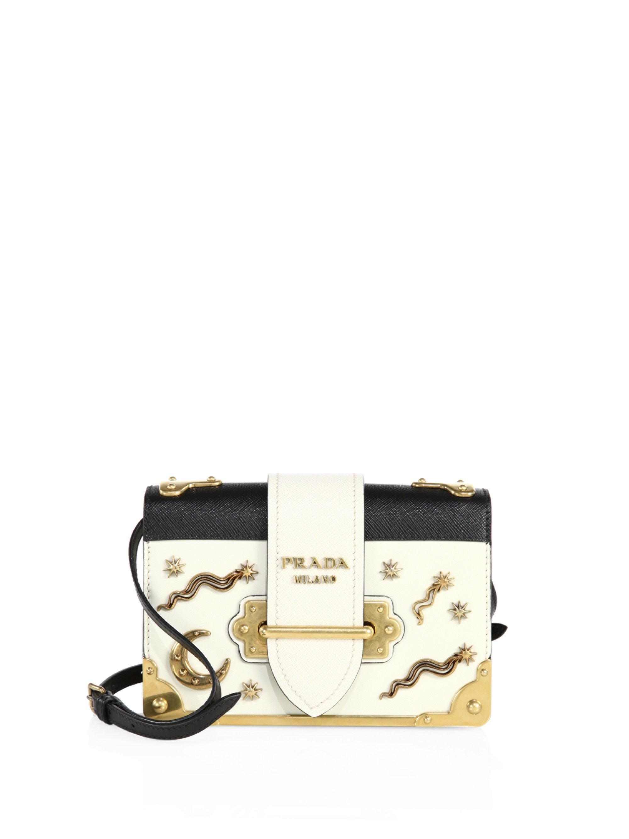 e733939a3980 Prada City Leather Celestial Cahier Shoulder Bag - Lyst