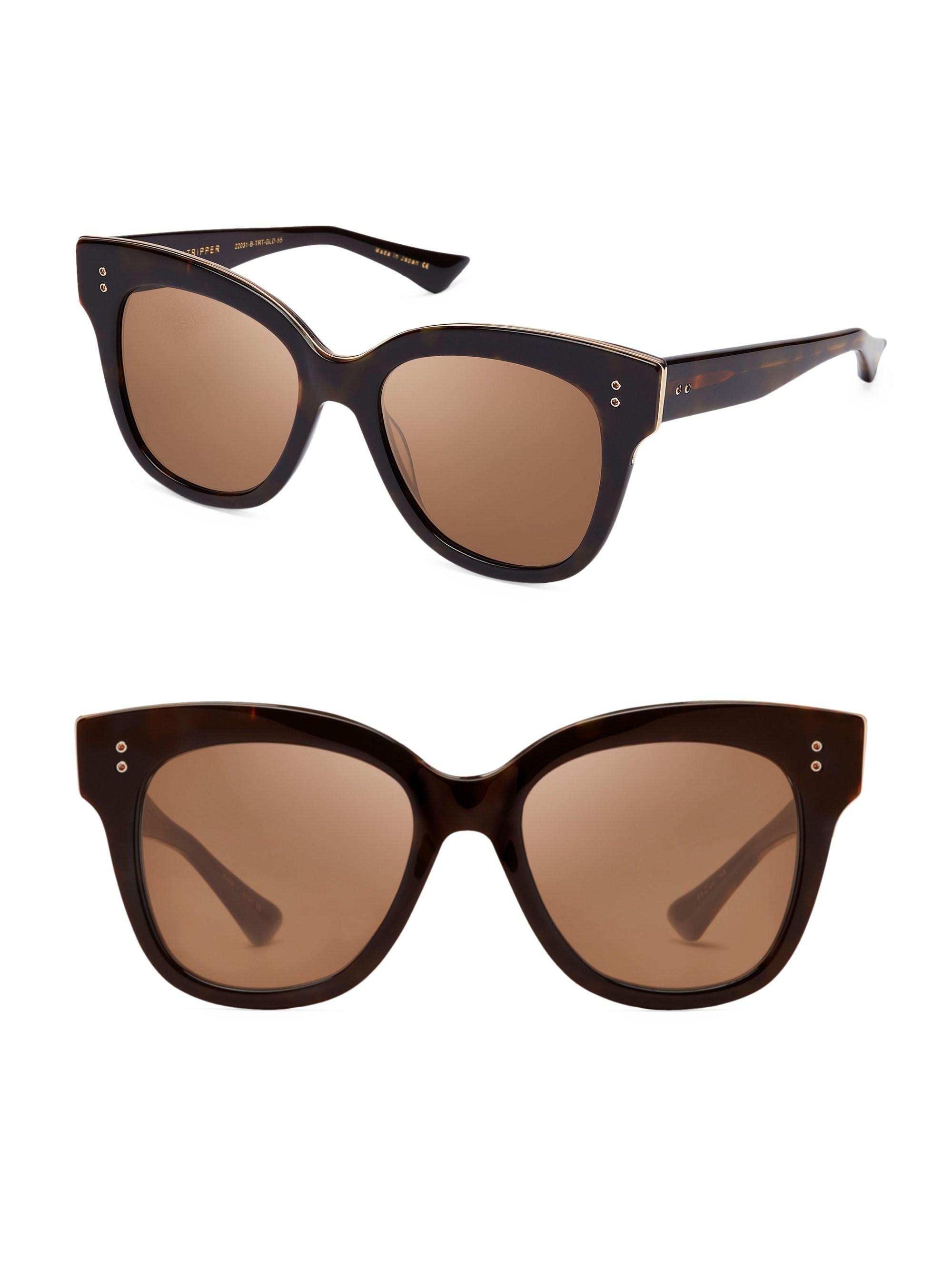 DITA Daytrip Womens Wayfarer Sunglasses in Tortoise