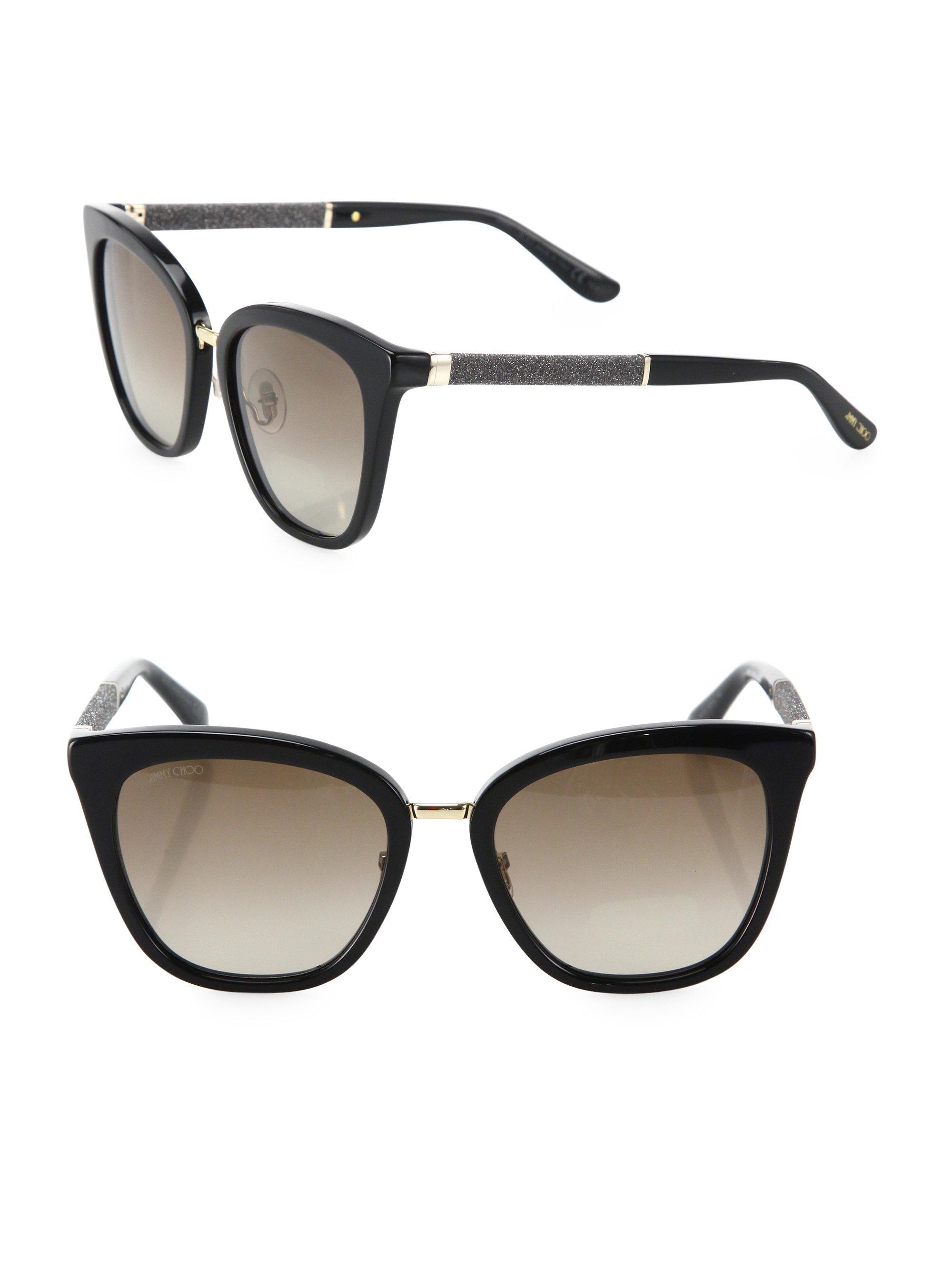 Jimmy Choo Brown Gradient Square Sunglasses FABRY/S 53JS
