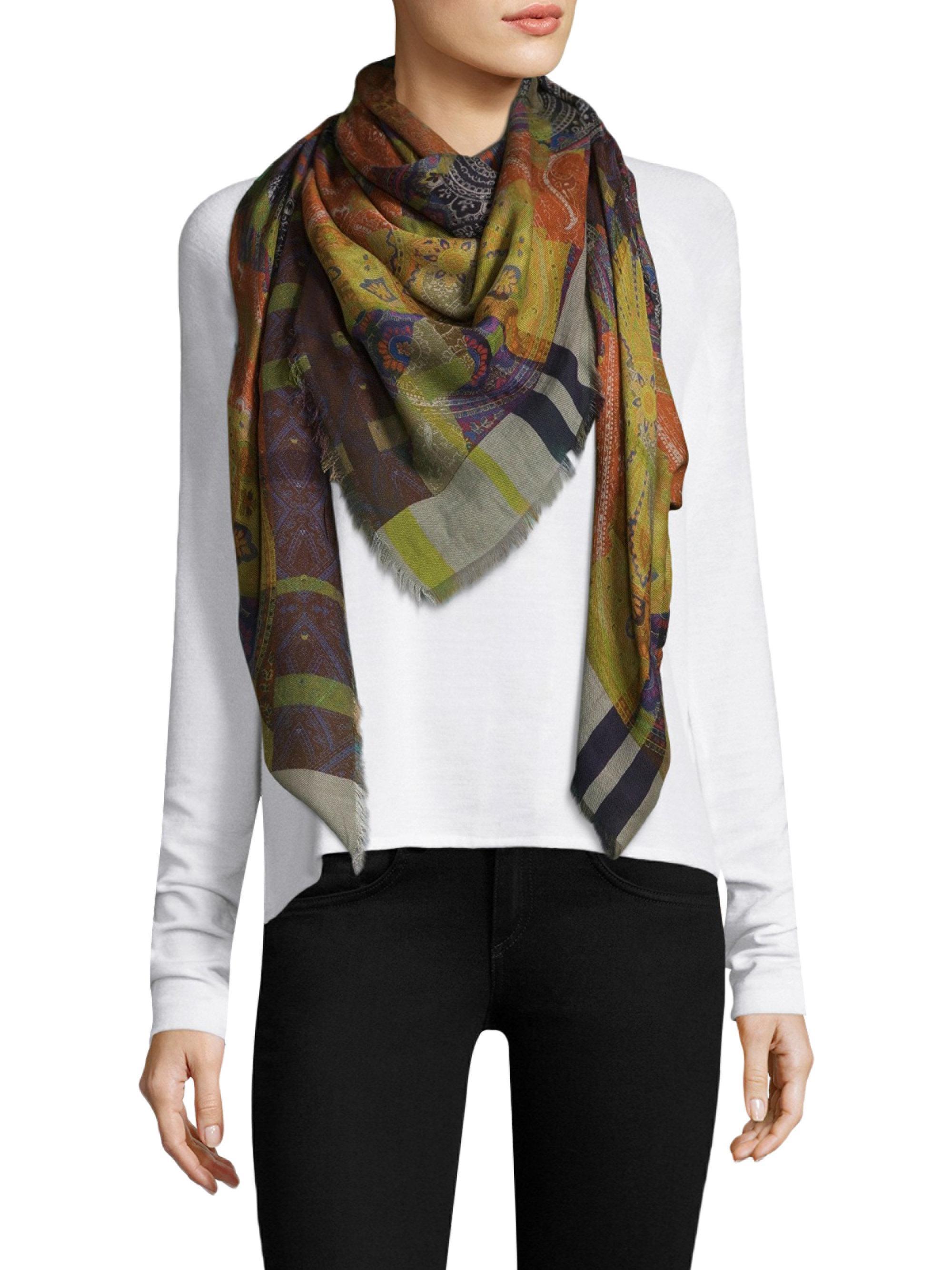 ferrari floral lyst butterfly multi scarf gallery product silk normal salvatore black accessories franco ferragamo