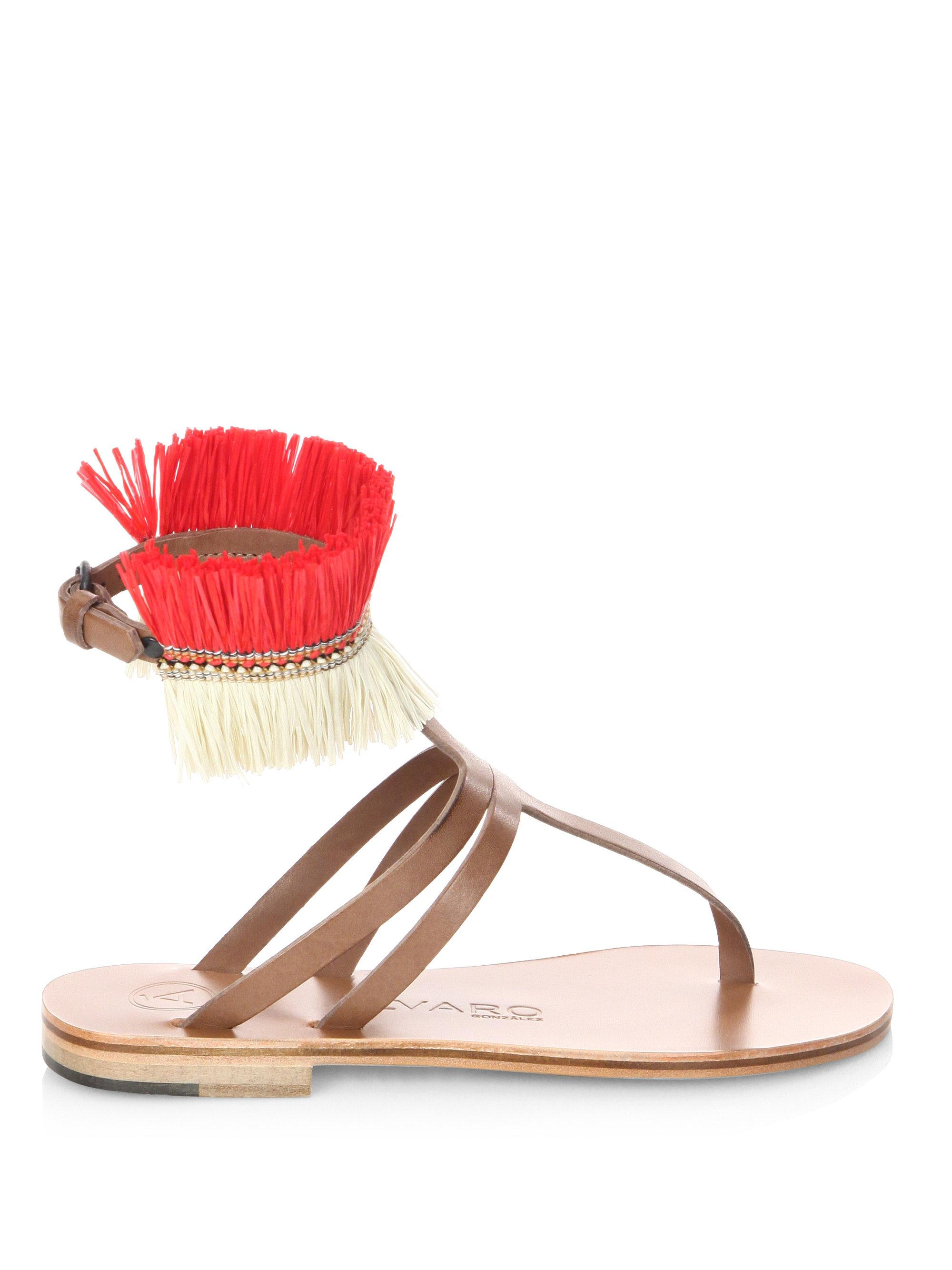 álvaro Ariana Leather Sandals